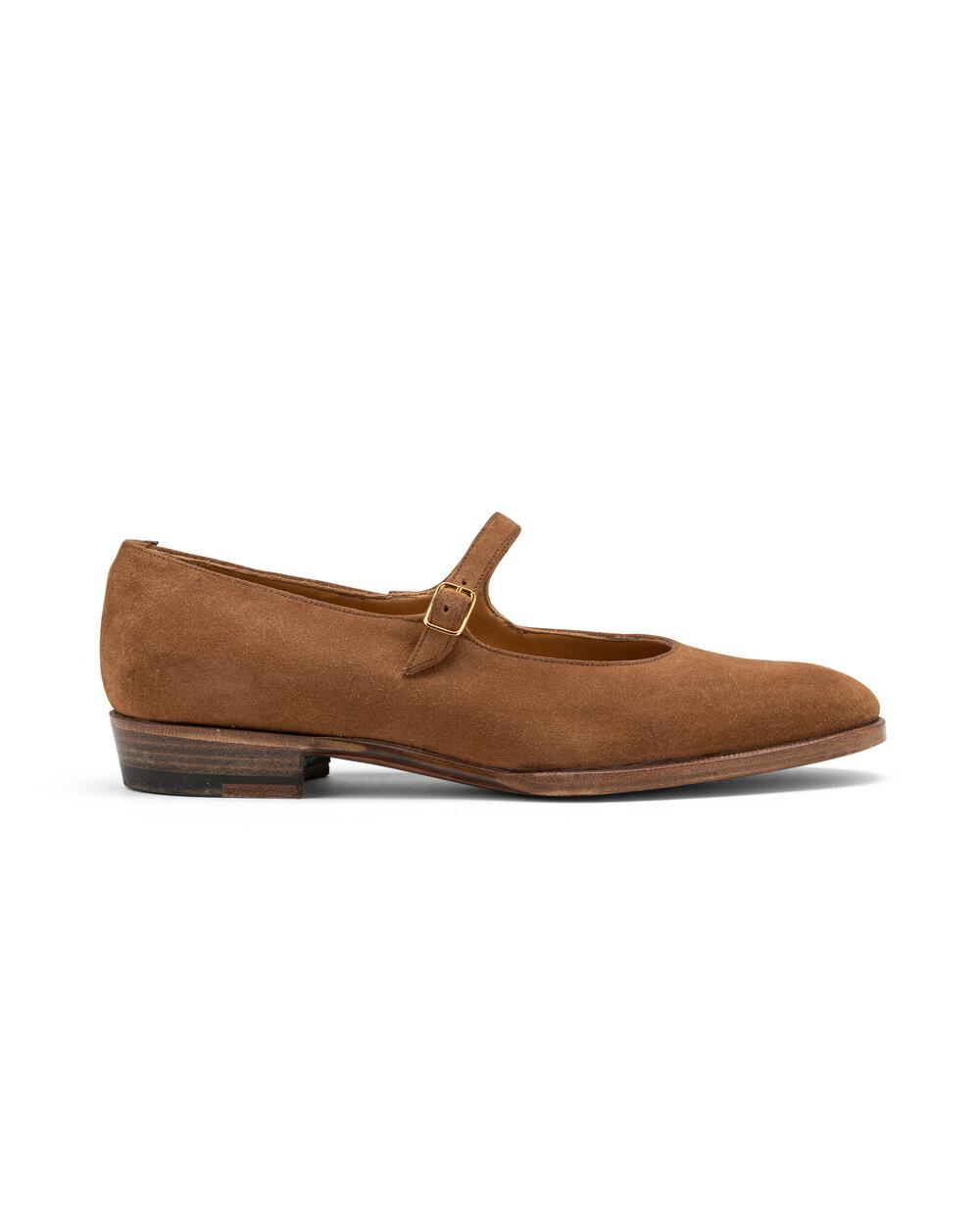 ODPEssentials Classic Mary Jane - Tan Suede 2