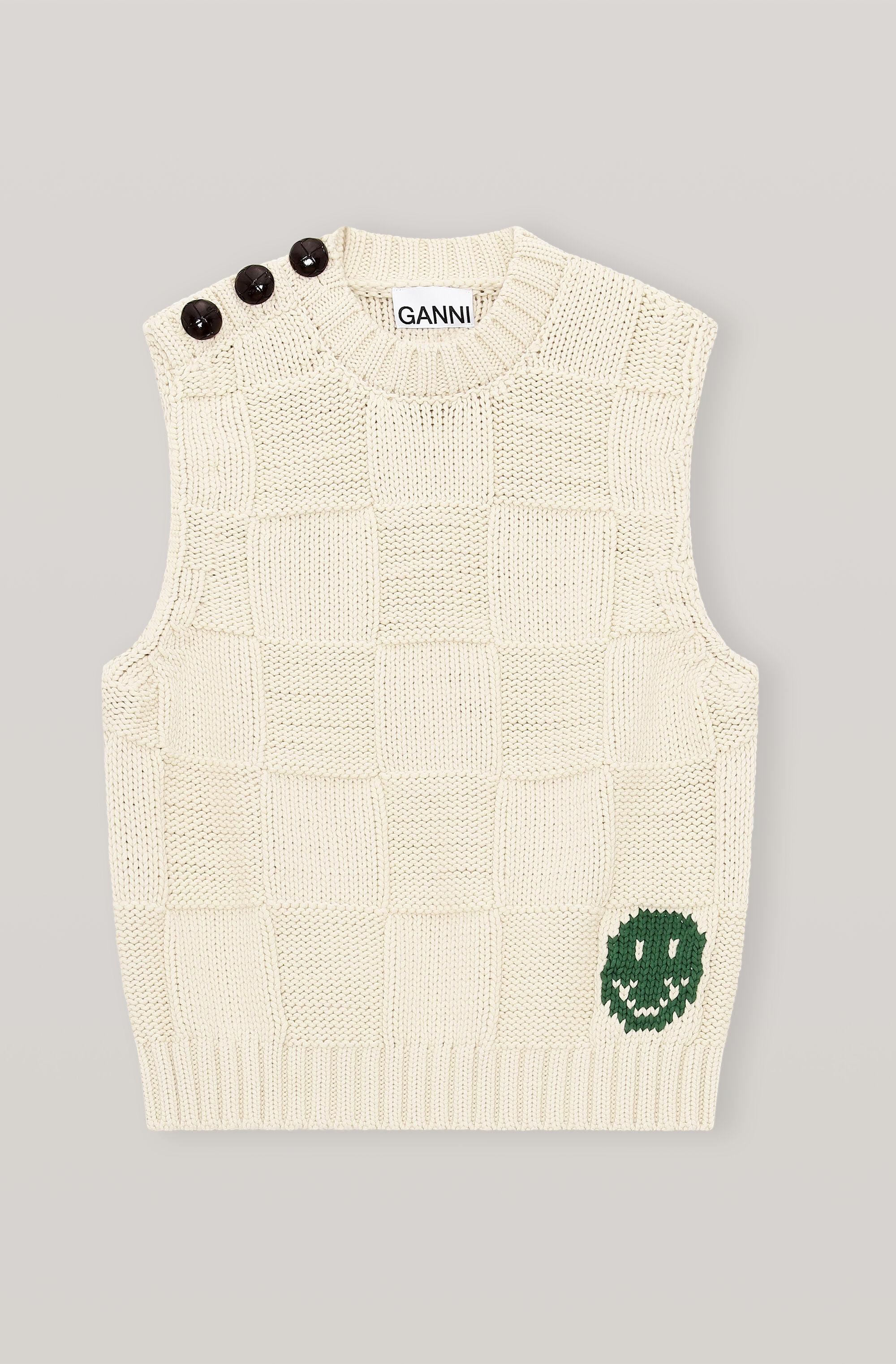 Smiley Fitted Sweater Vest