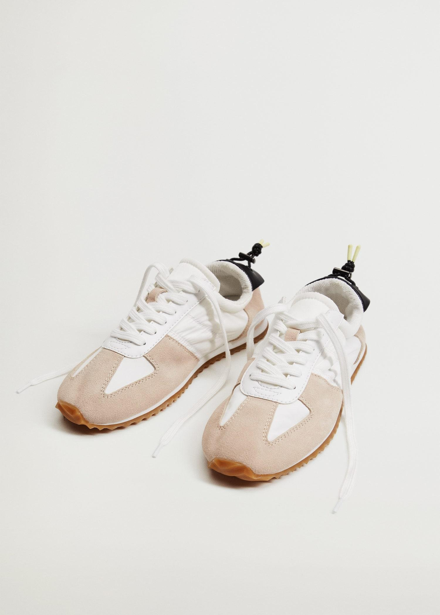 Leather mixed sneakers 3