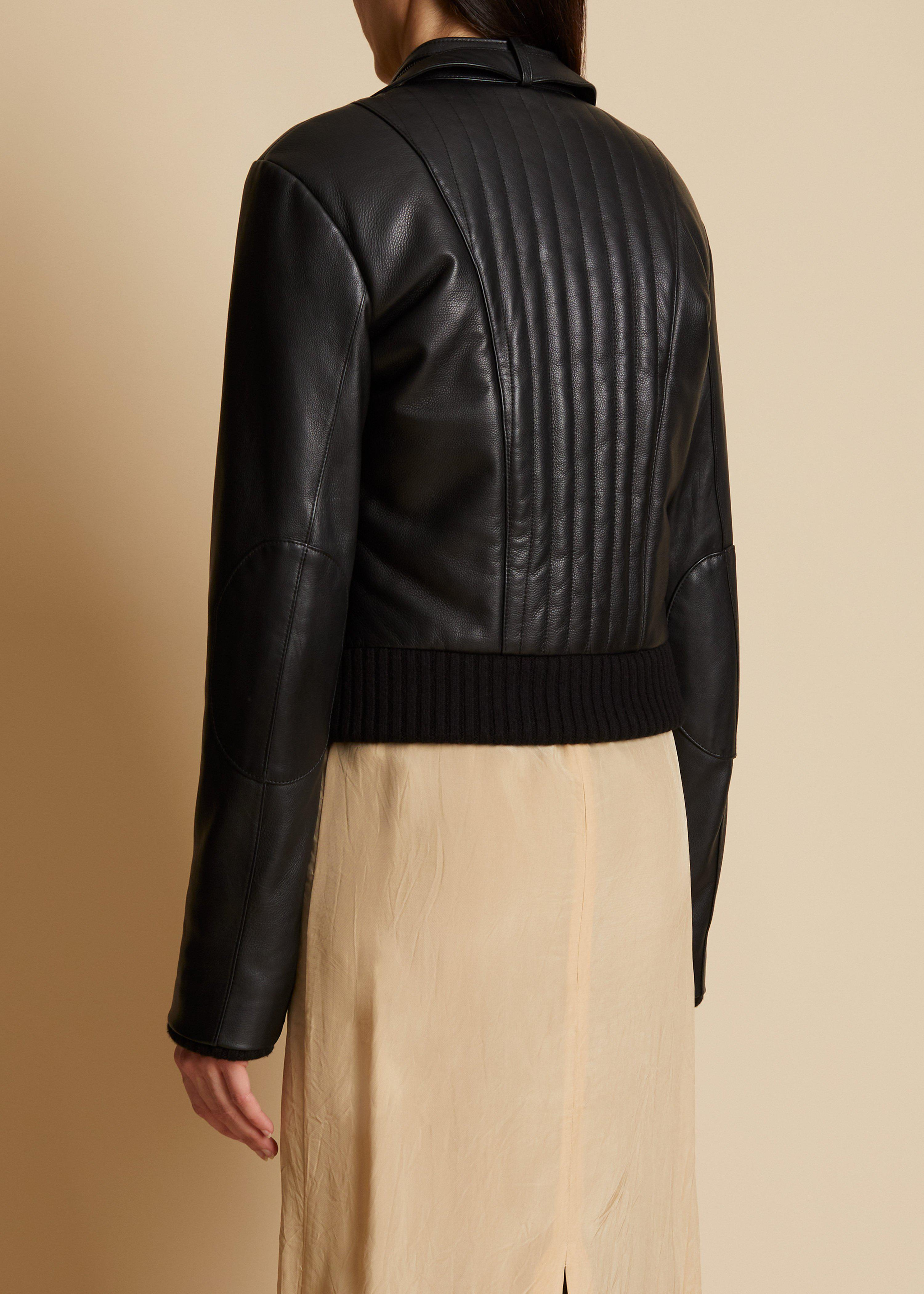 The Nicolette Jacket in Black Leather 2