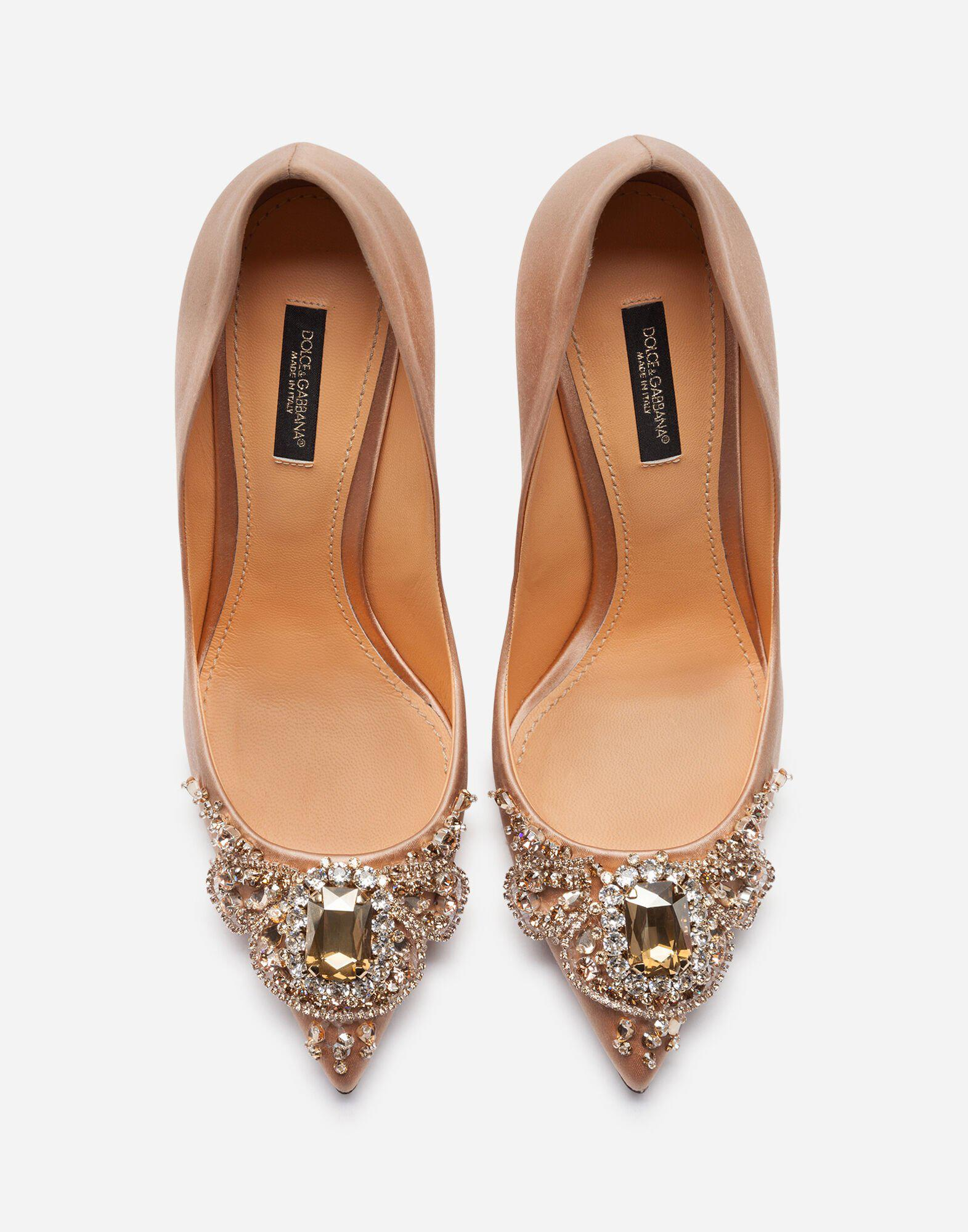 Satin pumps with bejeweled embellishment 3
