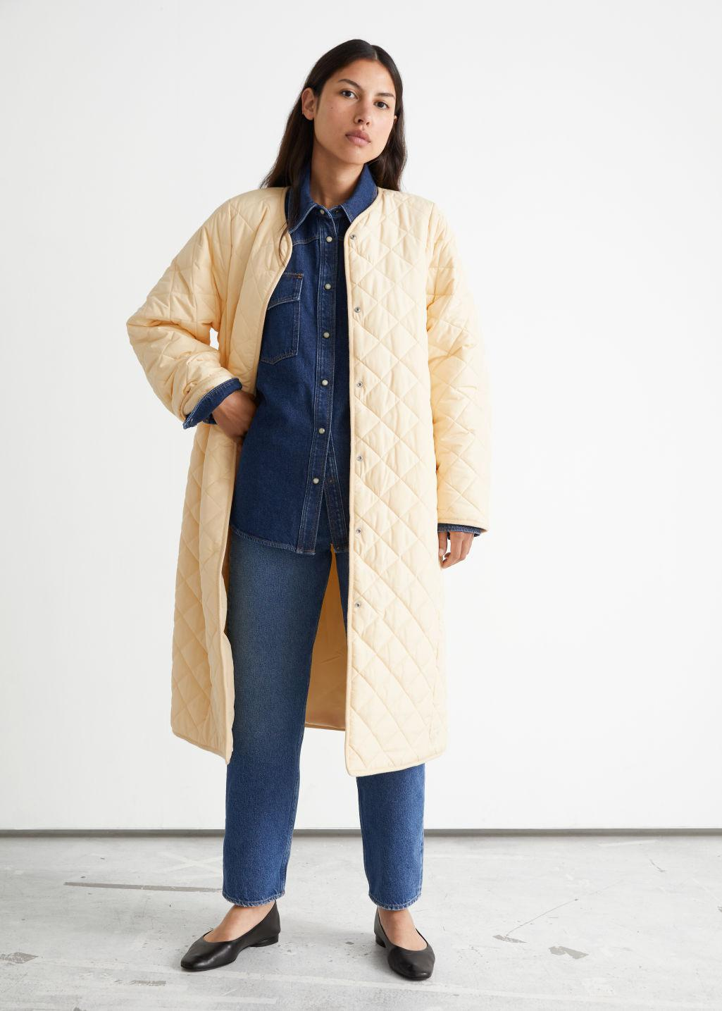 Quilted Banana Sleeve Coat