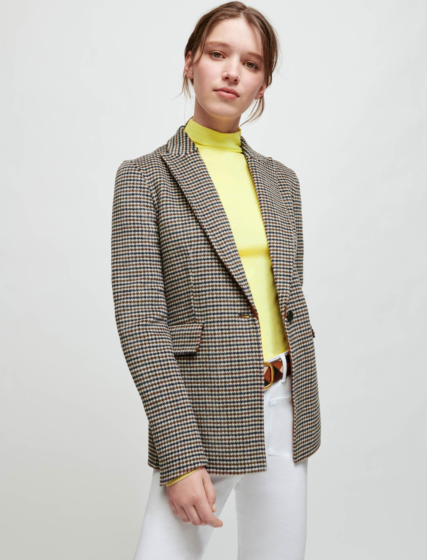 DOUBLE-SIDED CHECKERED FITTED JACKET