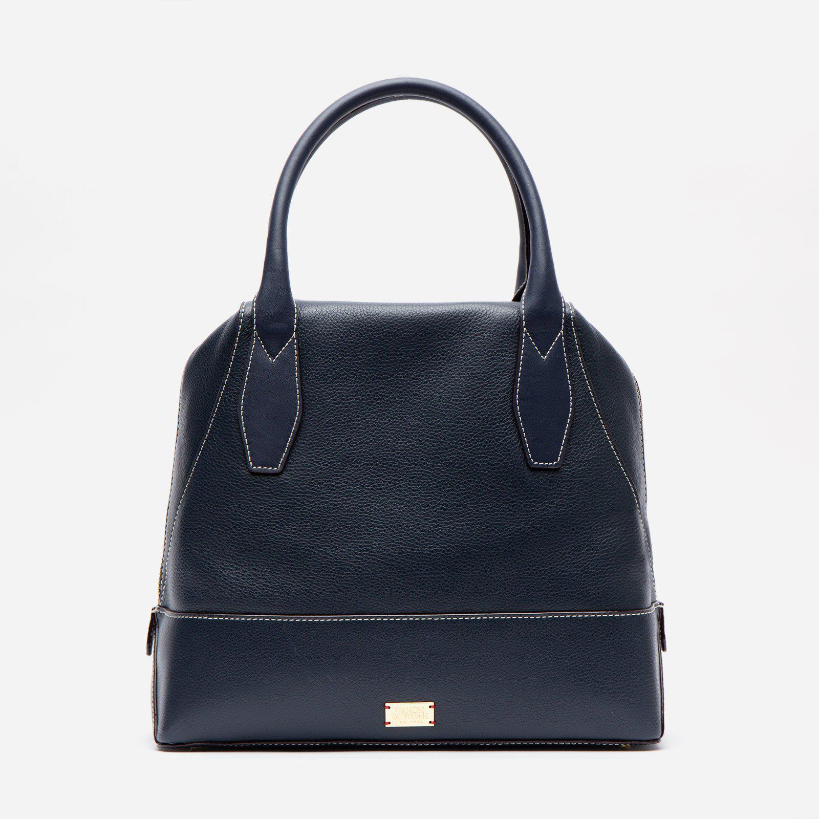 Abby Tote Tumbled Leather Navy