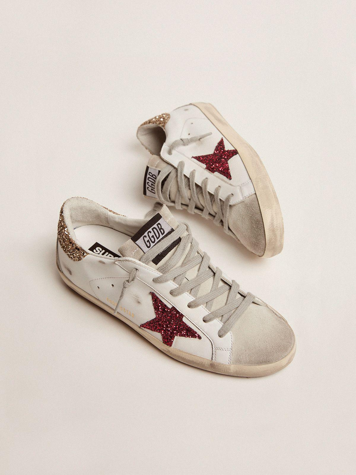 Super-Star sneakers with colored glitter star and heel tab 1
