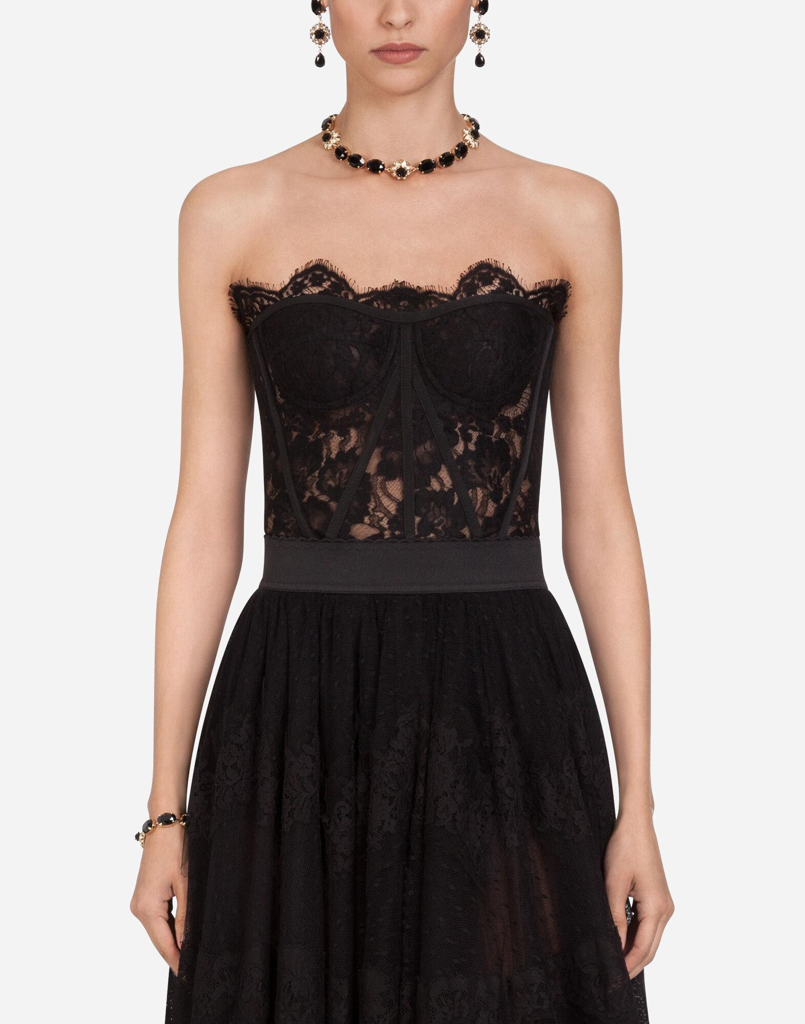 Short galloon lace bustier