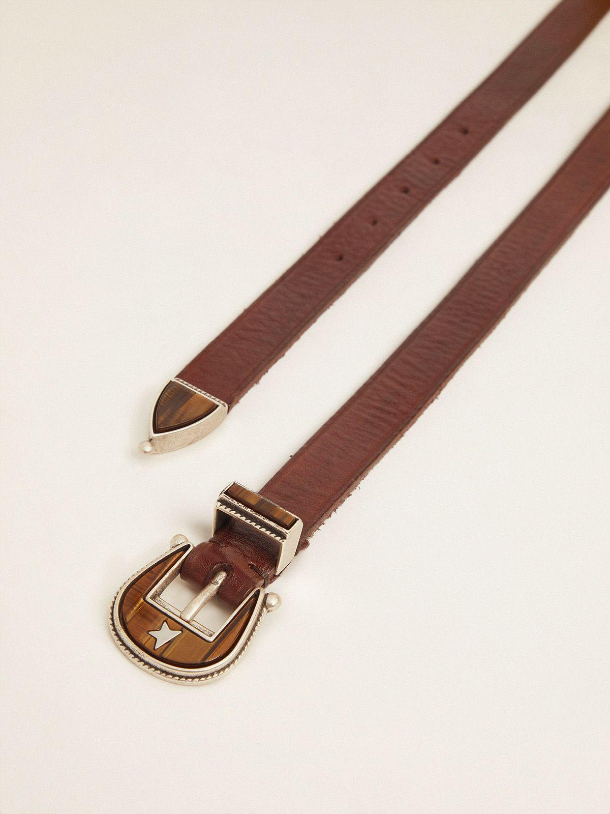 Dark brown Rodeo belt with tone-on-tone buckle 1