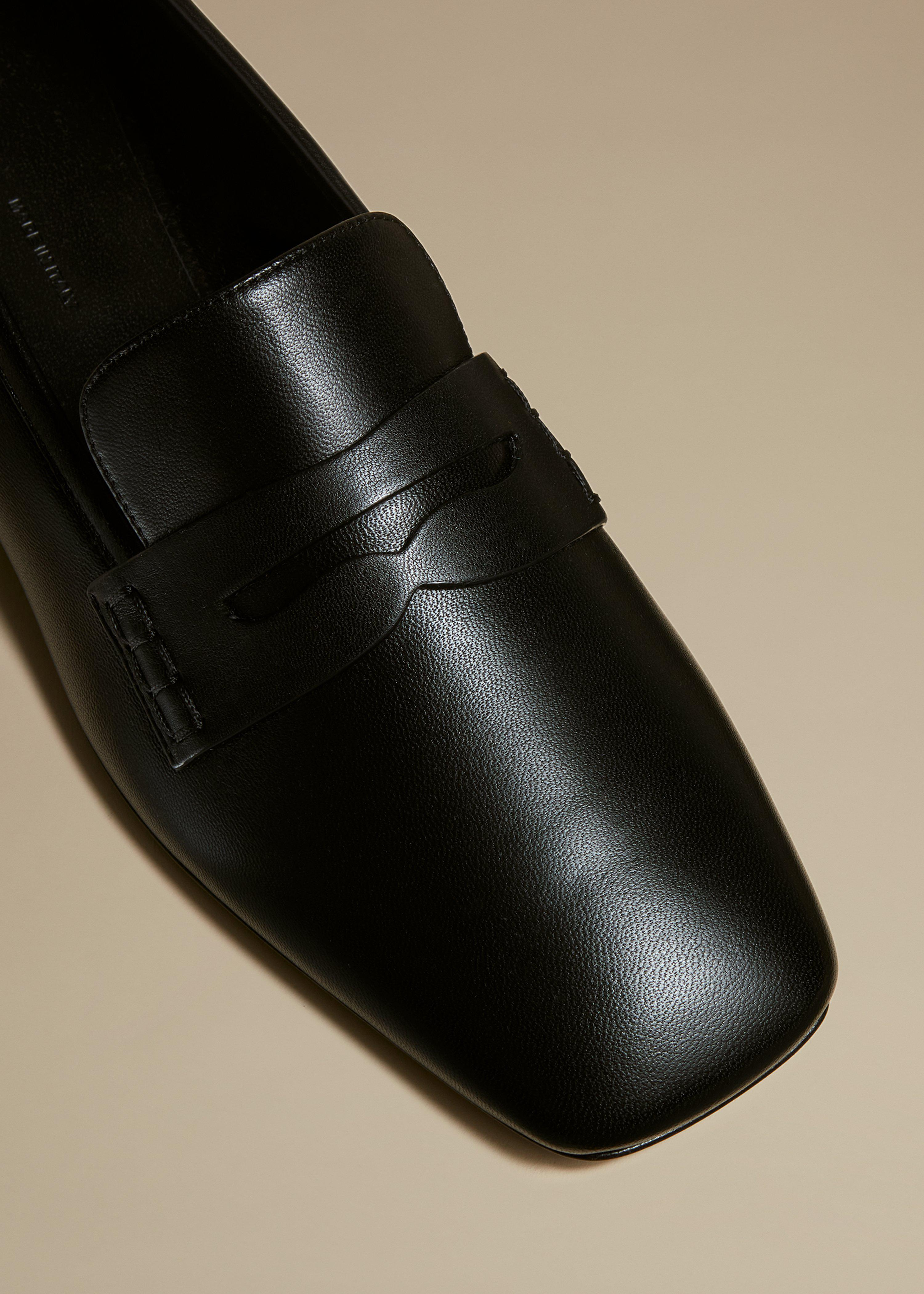 The Carlisle Loafer in Black Leather 2