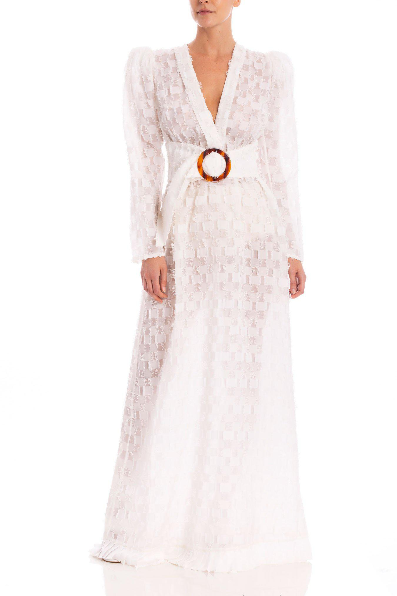 New Year Long Dress with Voluminous Sleeves and Hoop