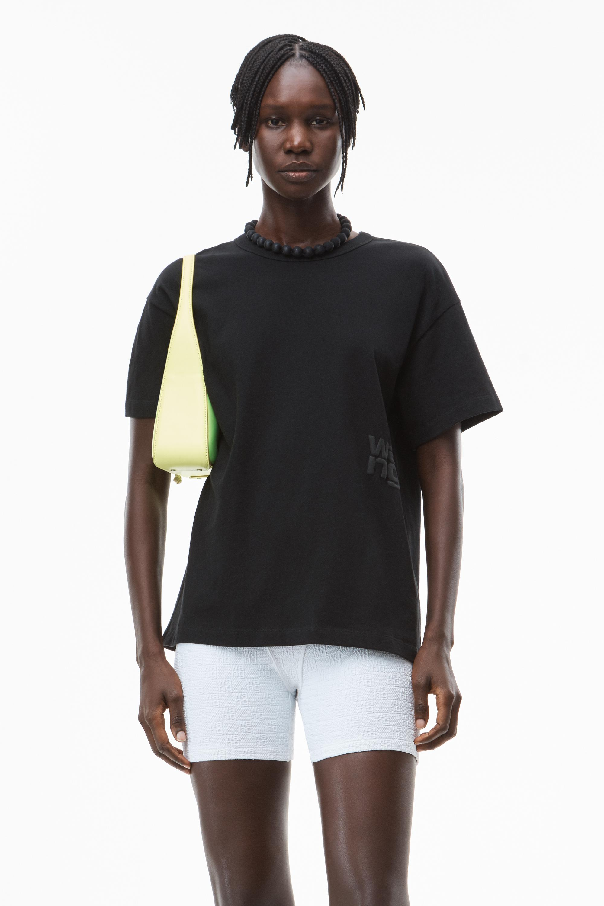 puff logo tee in cotton jersey