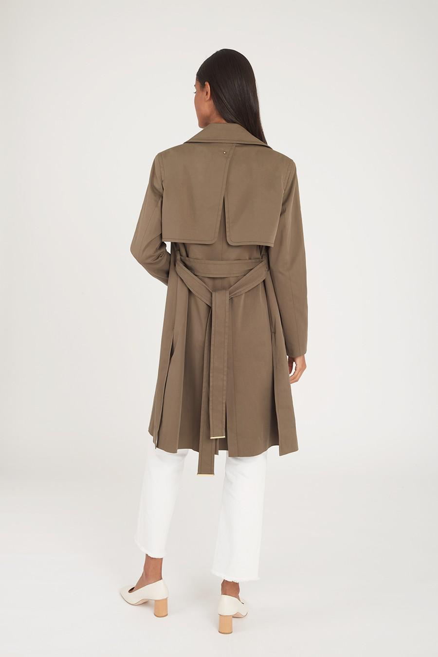 Women's Classic Trench in Olive | Size: 2