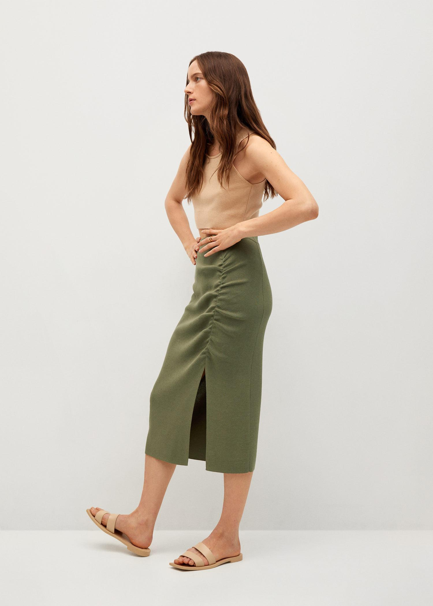 Ruched detail skirt 4