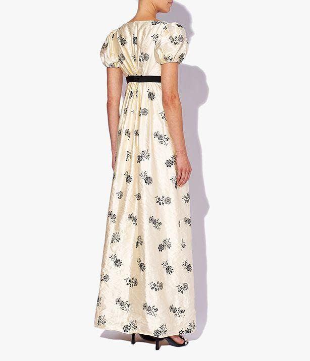 Leonore Gown Floral Embroidered Satin 1