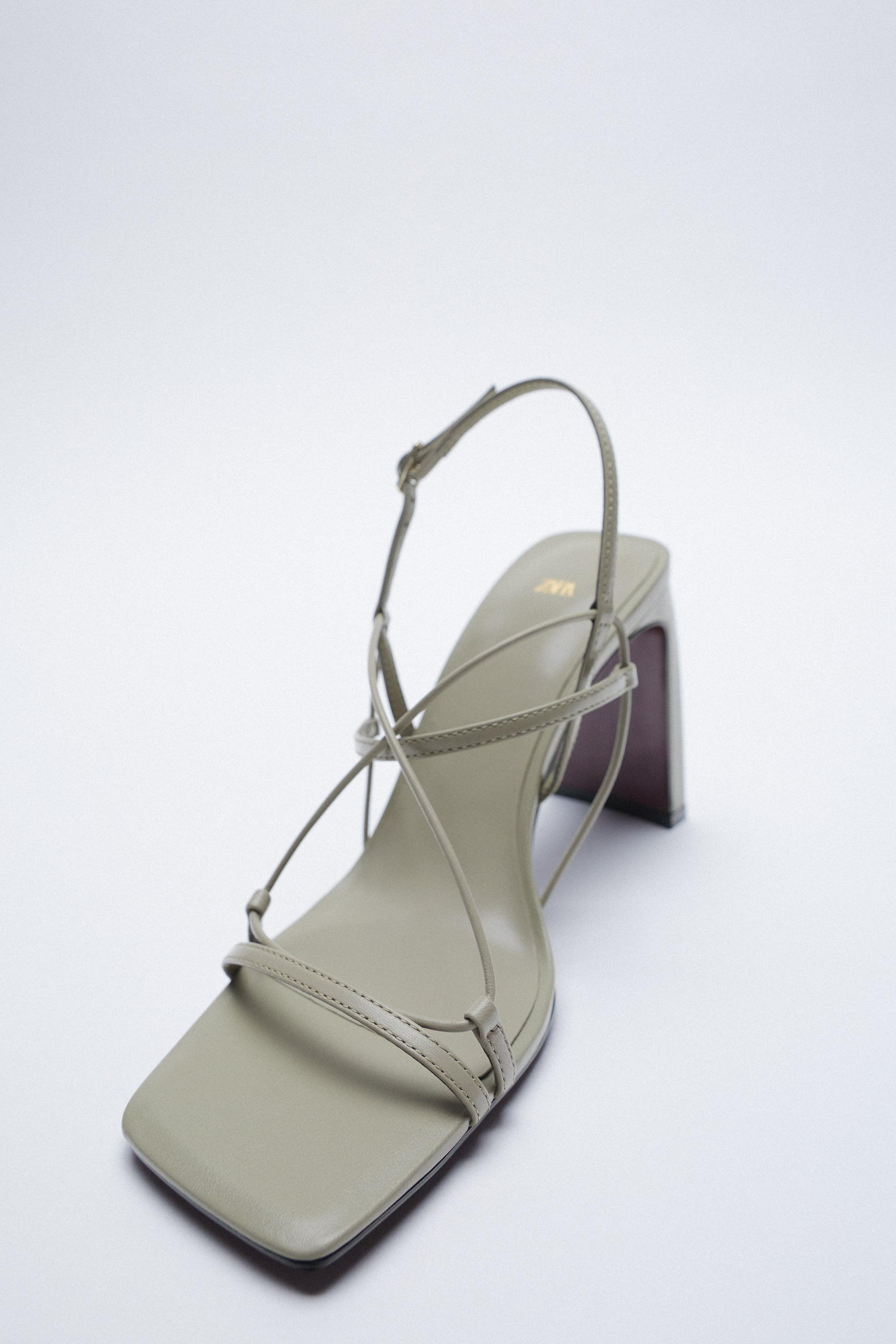THIN STRAP LEATHER SANDALS 5