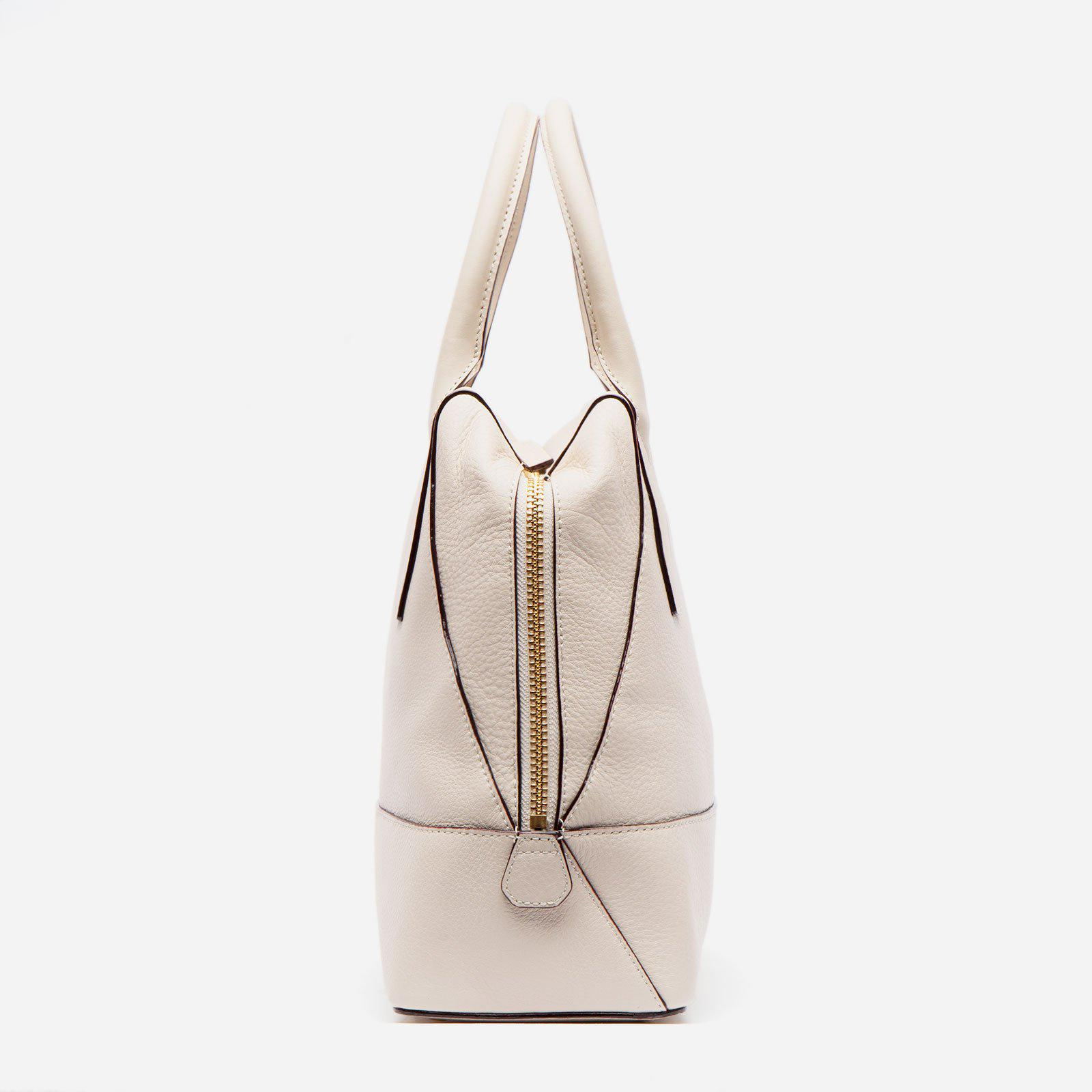 Abby Tote Tumbled Leather Oyster 1