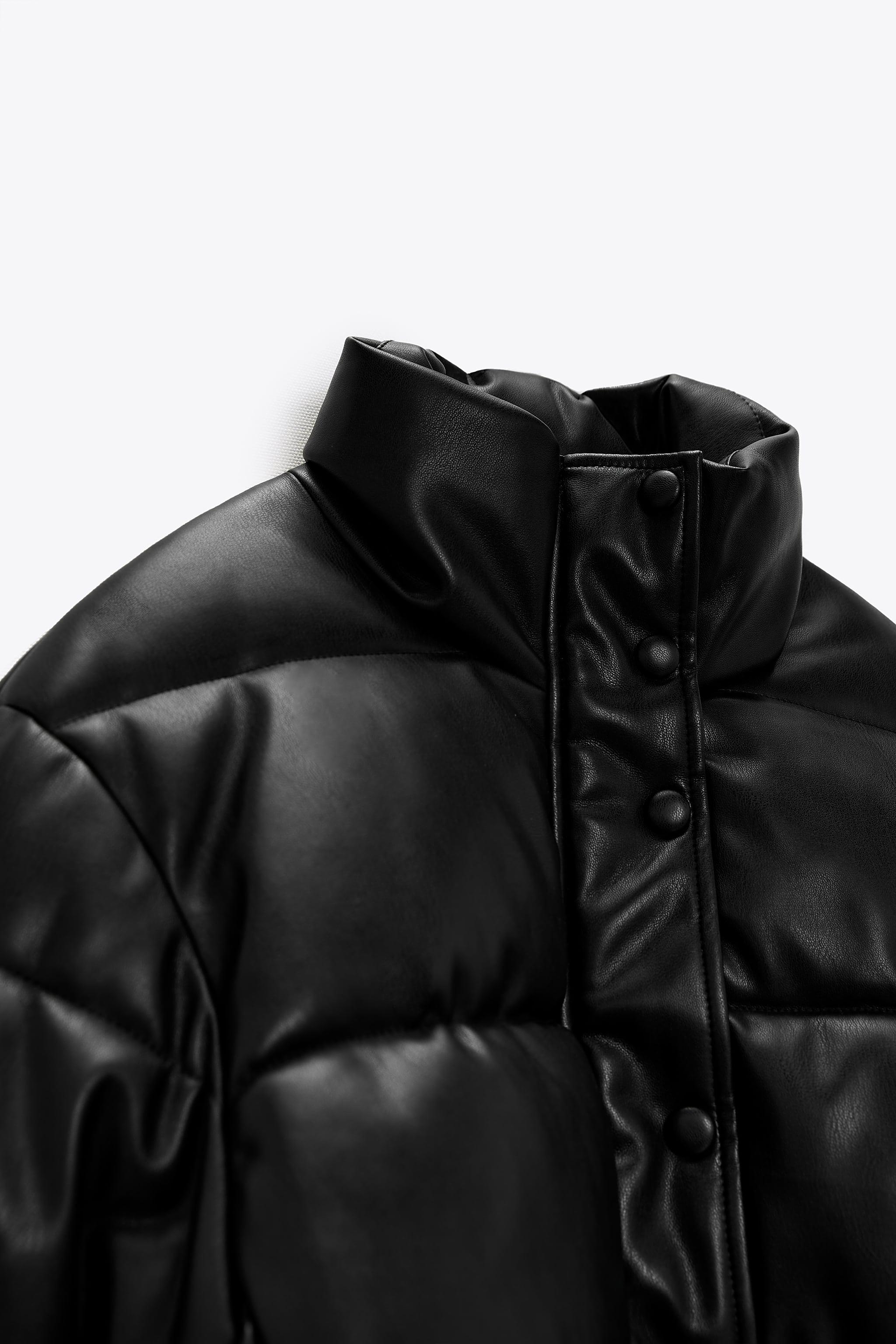 FAUX LEATHER PUFFER JACKET 6