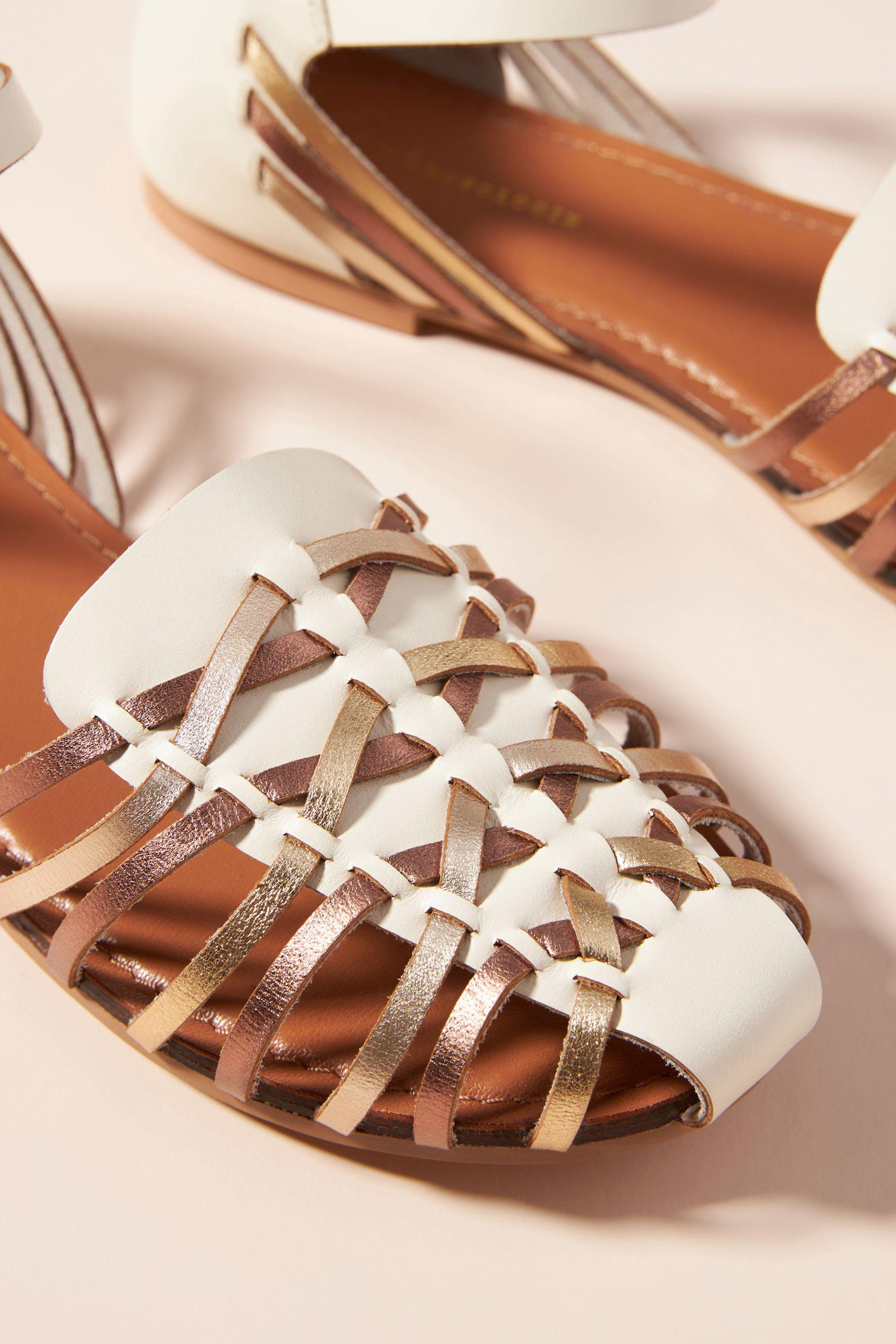 Woven Leather Flats 2