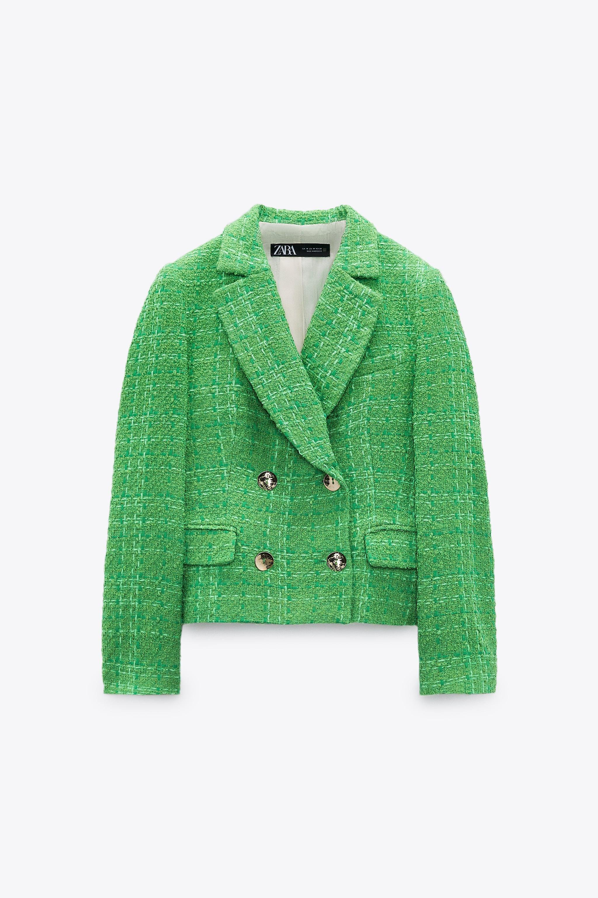 DOUBLE BREASTED TEXTURED WEAVE JACKET 4