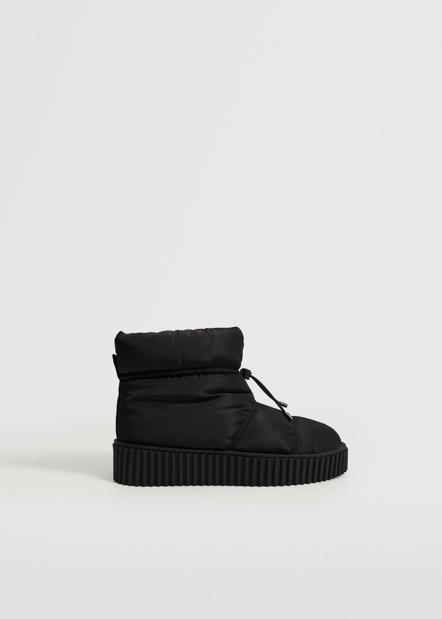 Platform quilted ankle boots