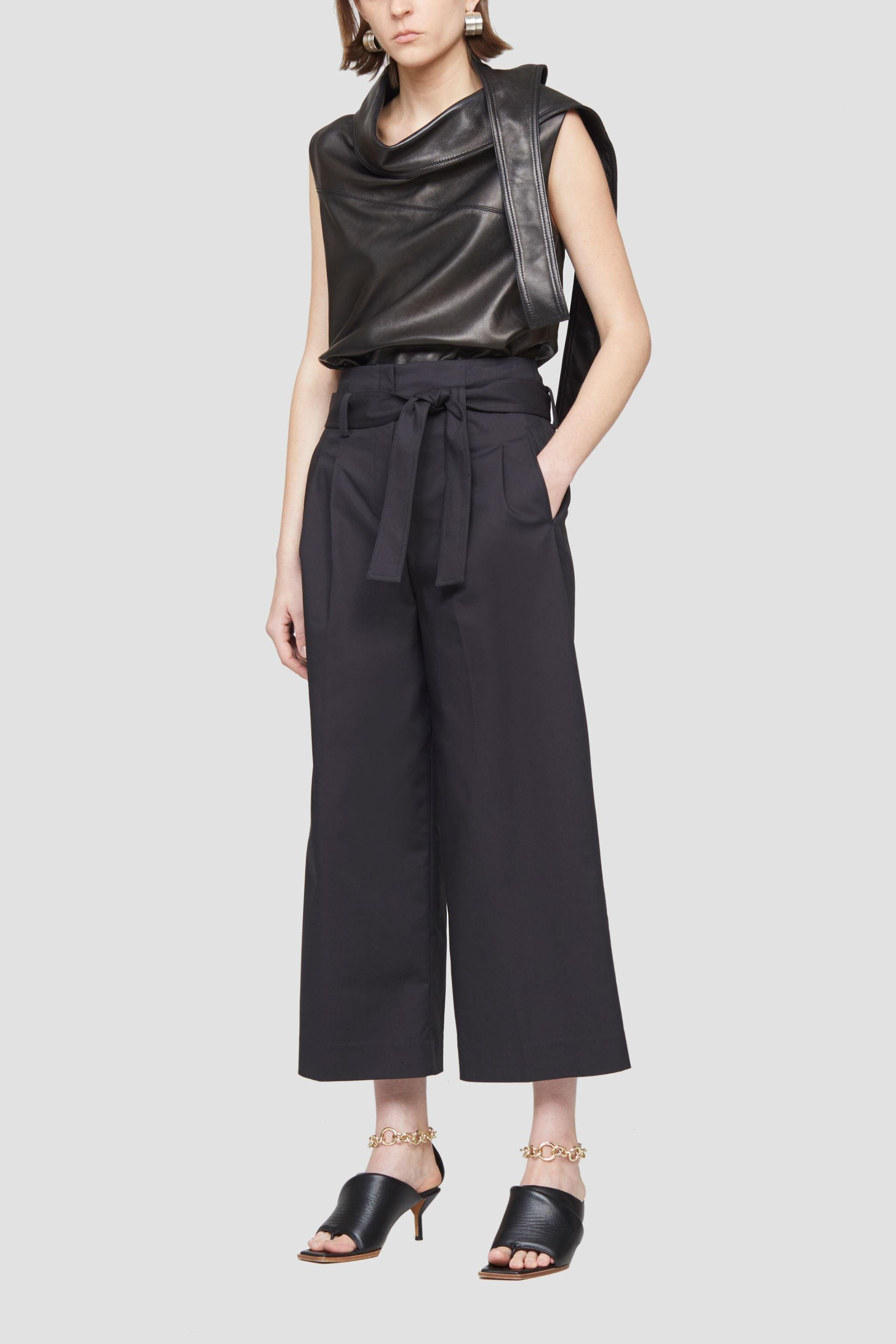 paperbag-waist cropped trousers