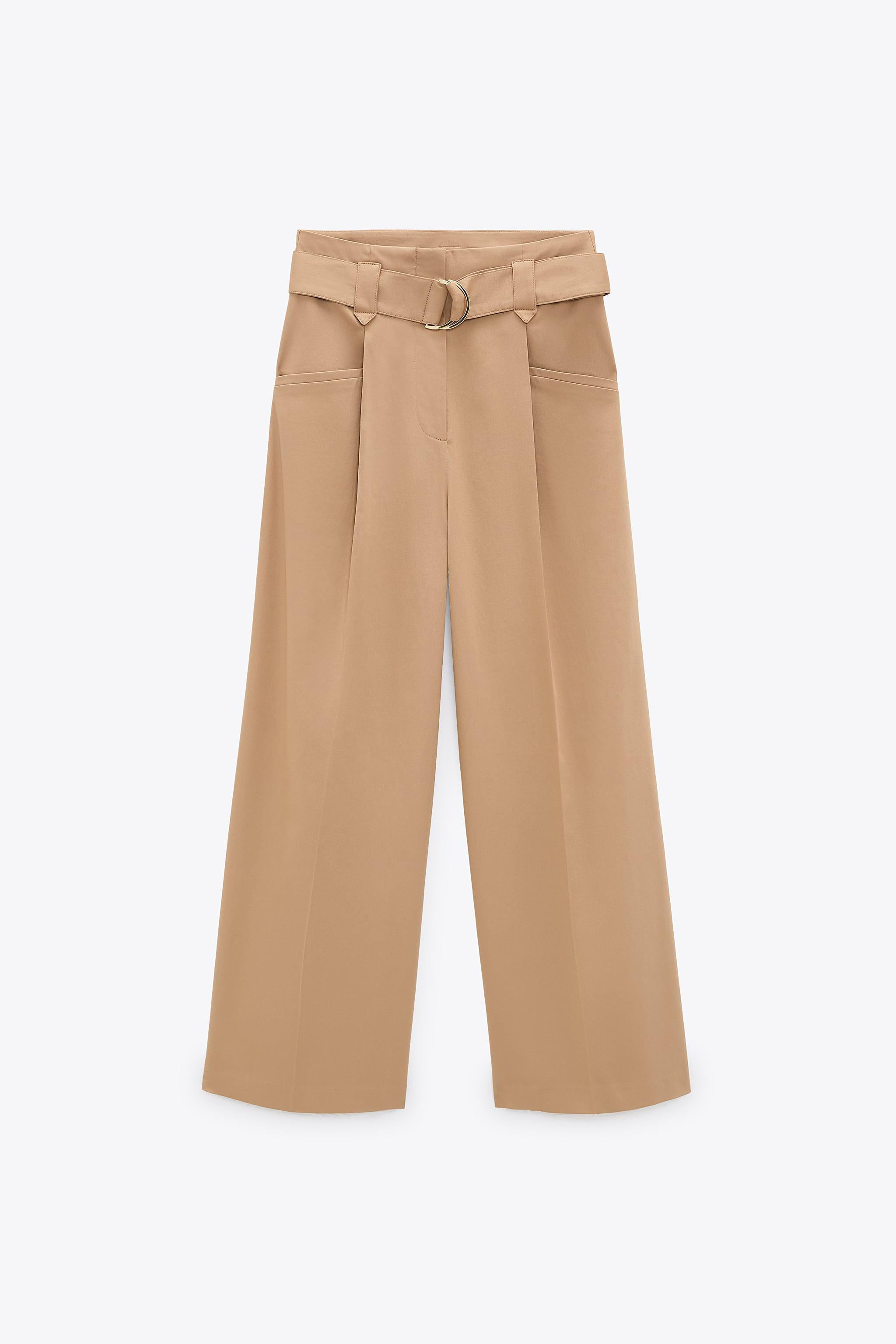 WIDE LEG BELTED PANTS 6