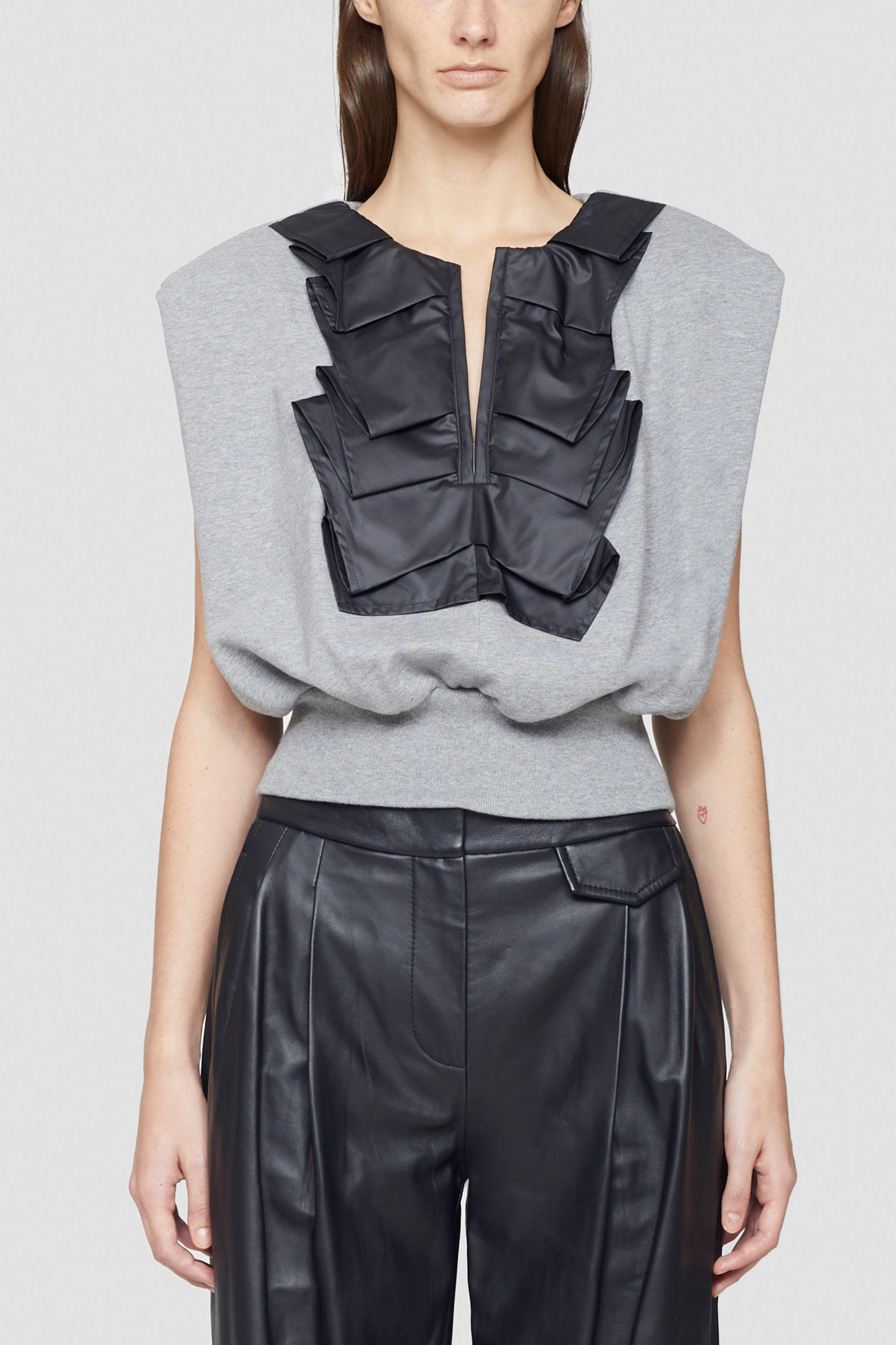 Ruffle Detail French Terry Tank