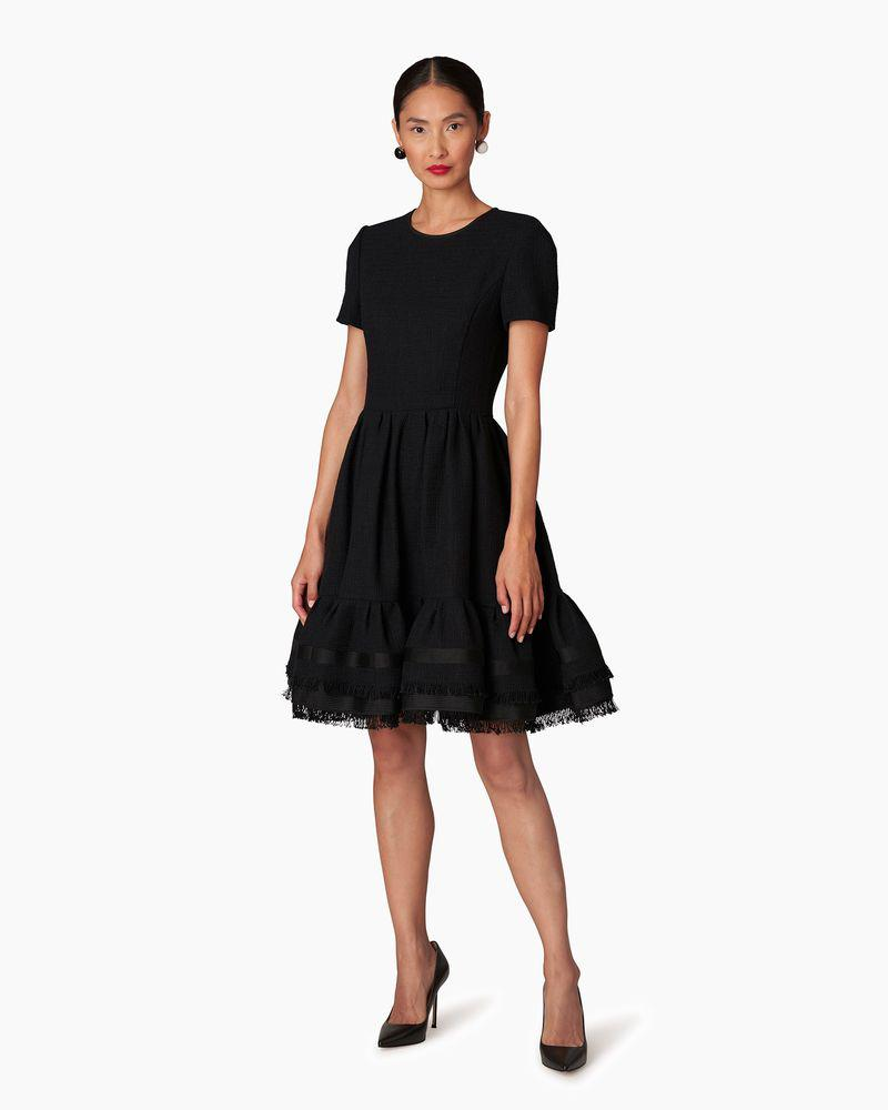 Short Sleeve Fit-and-Flare Dress