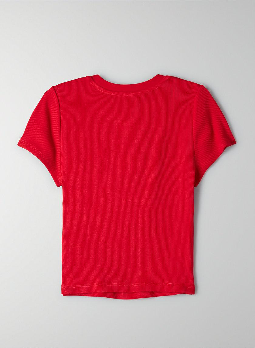 Ribbed Cropped T-Shirt 6