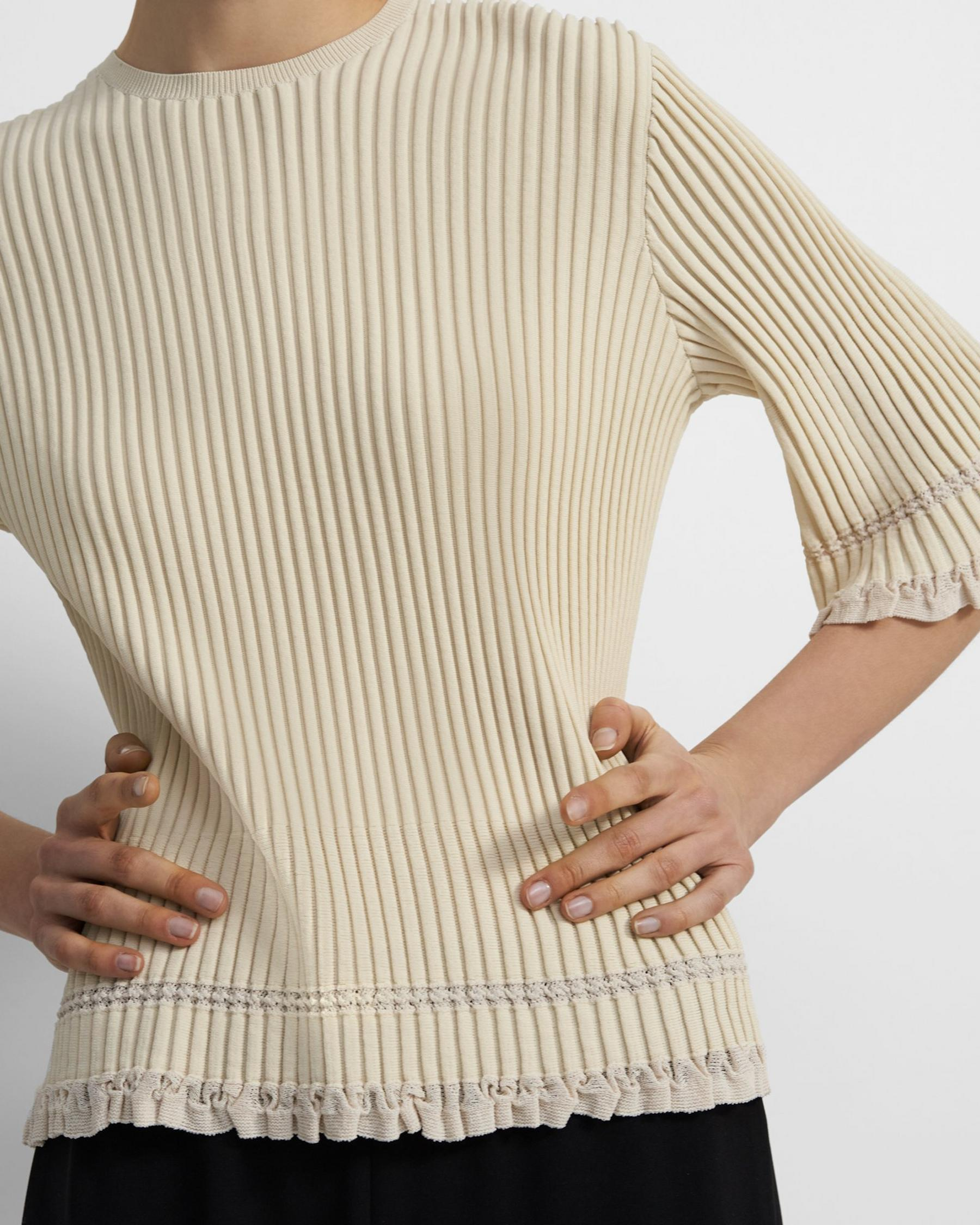 Ribbed T-Shirt in Eco Knit 1