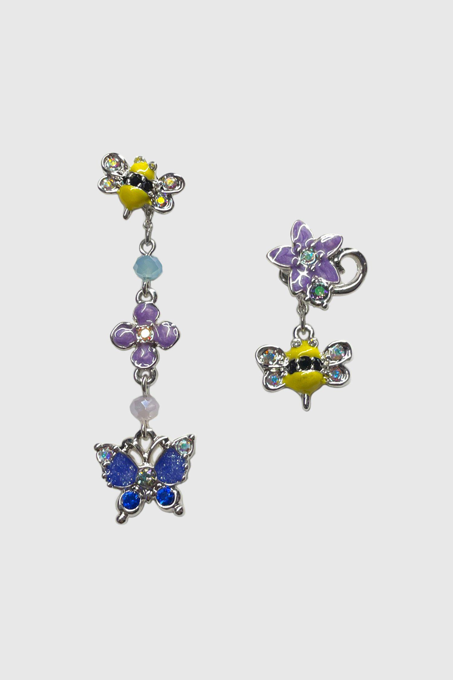 Busy Bees Mismatched Drop Post Earrings