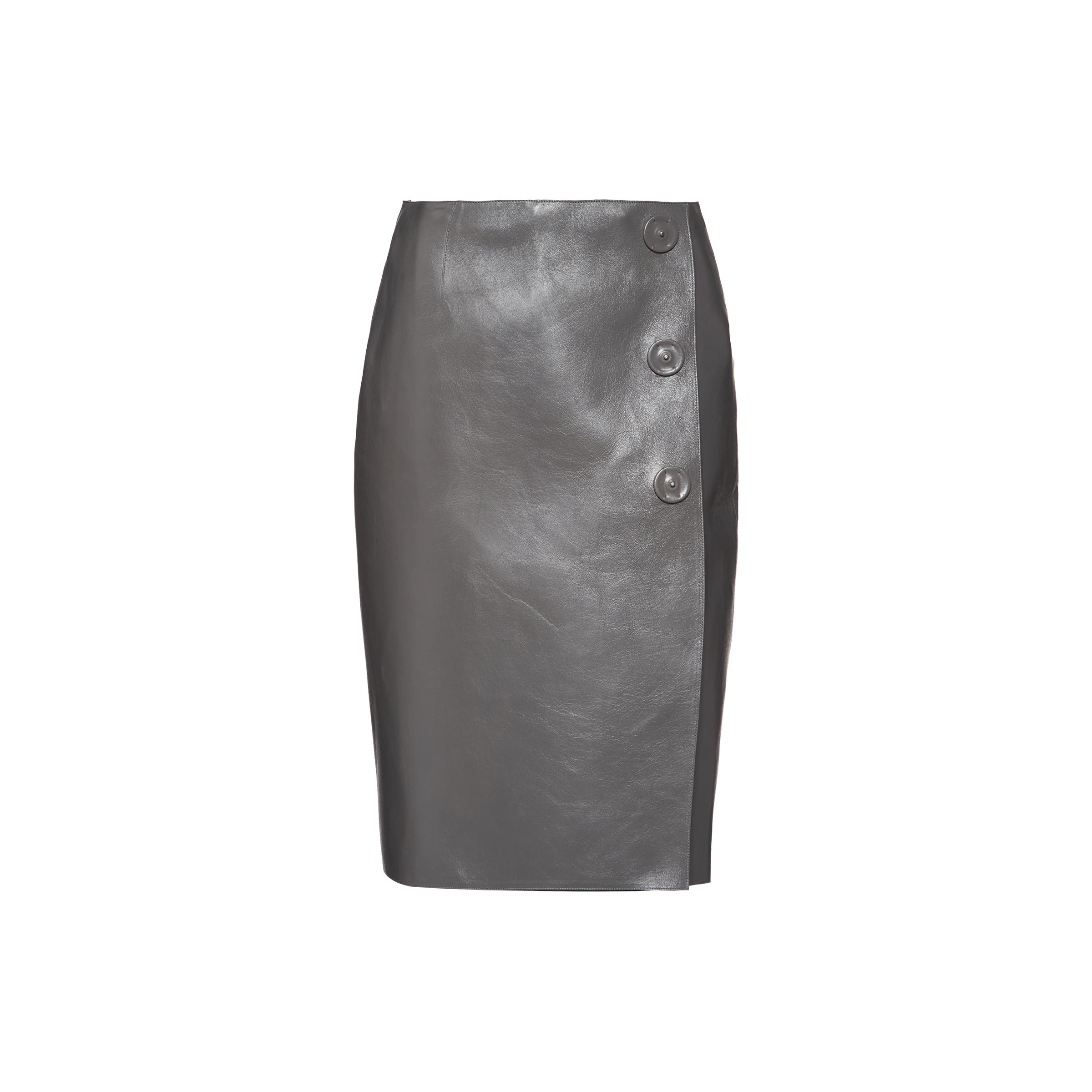 Nappa Leather Skirt Women Marble/orchid