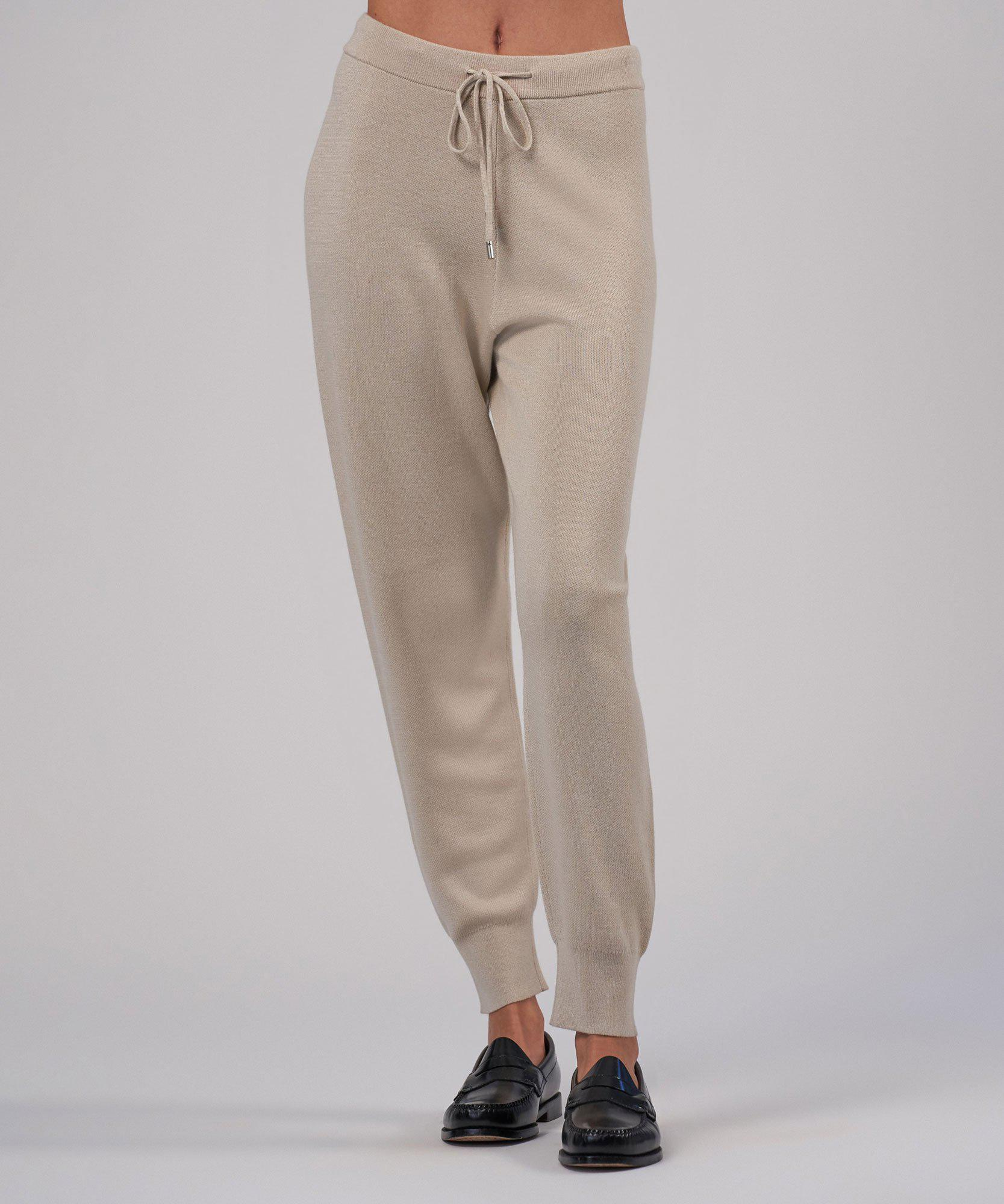 Cashmere Silk Pull-On Pant - Canvas