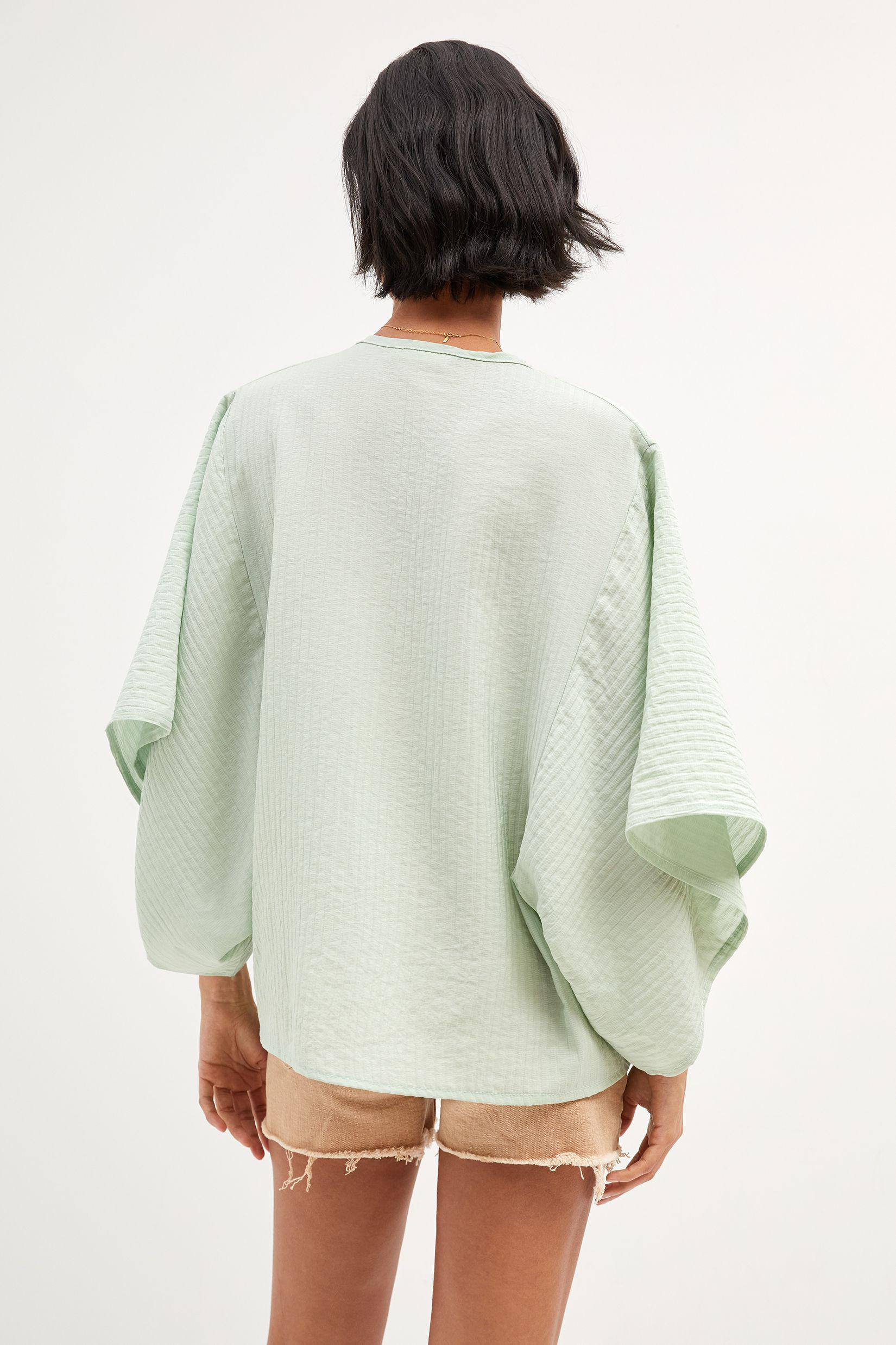Airy Button-Front Poncho 1