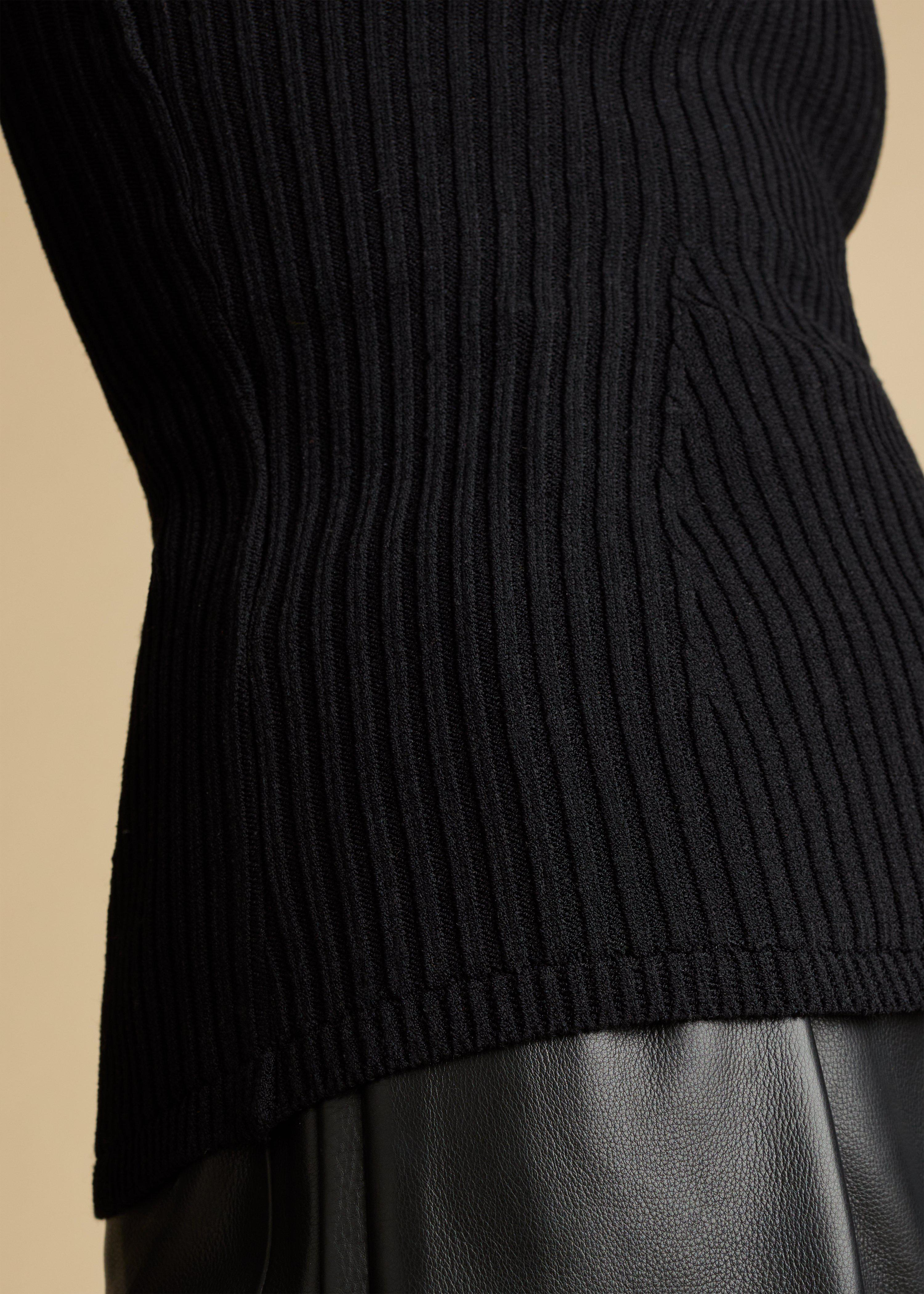 The Lucie Top in Black 7