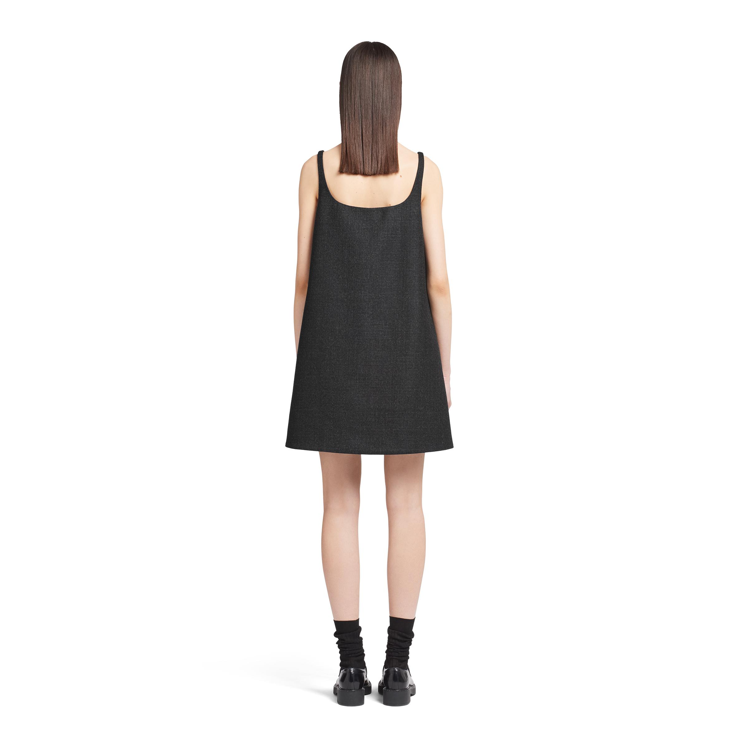 Prince Of Wales Checked Dress Women Black 3