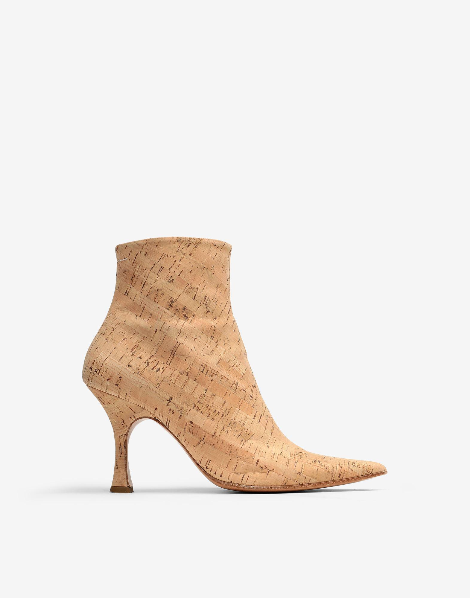 Cork ankle boots