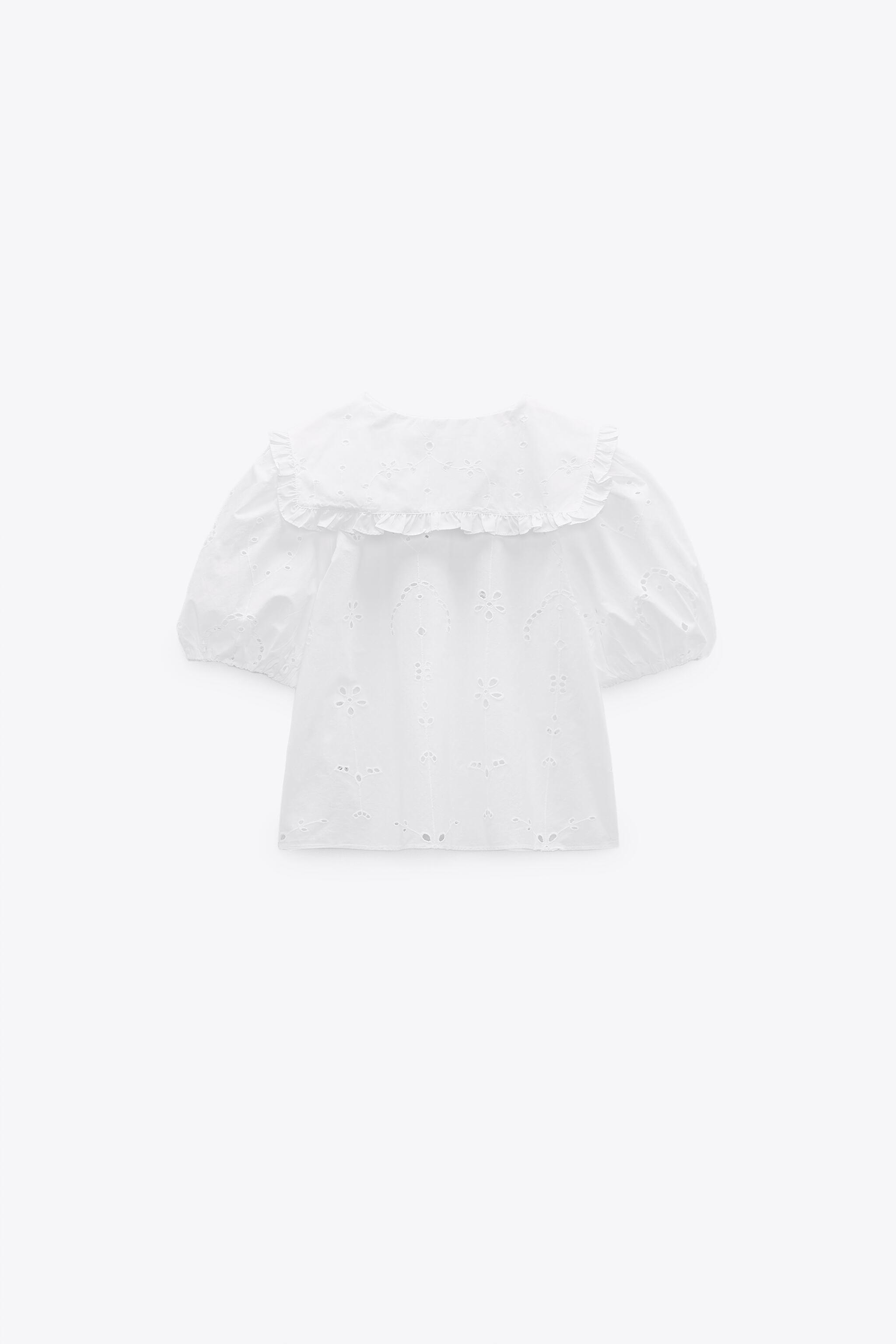 POPLIN TOP WITH EYELET EMBROIDERY 6