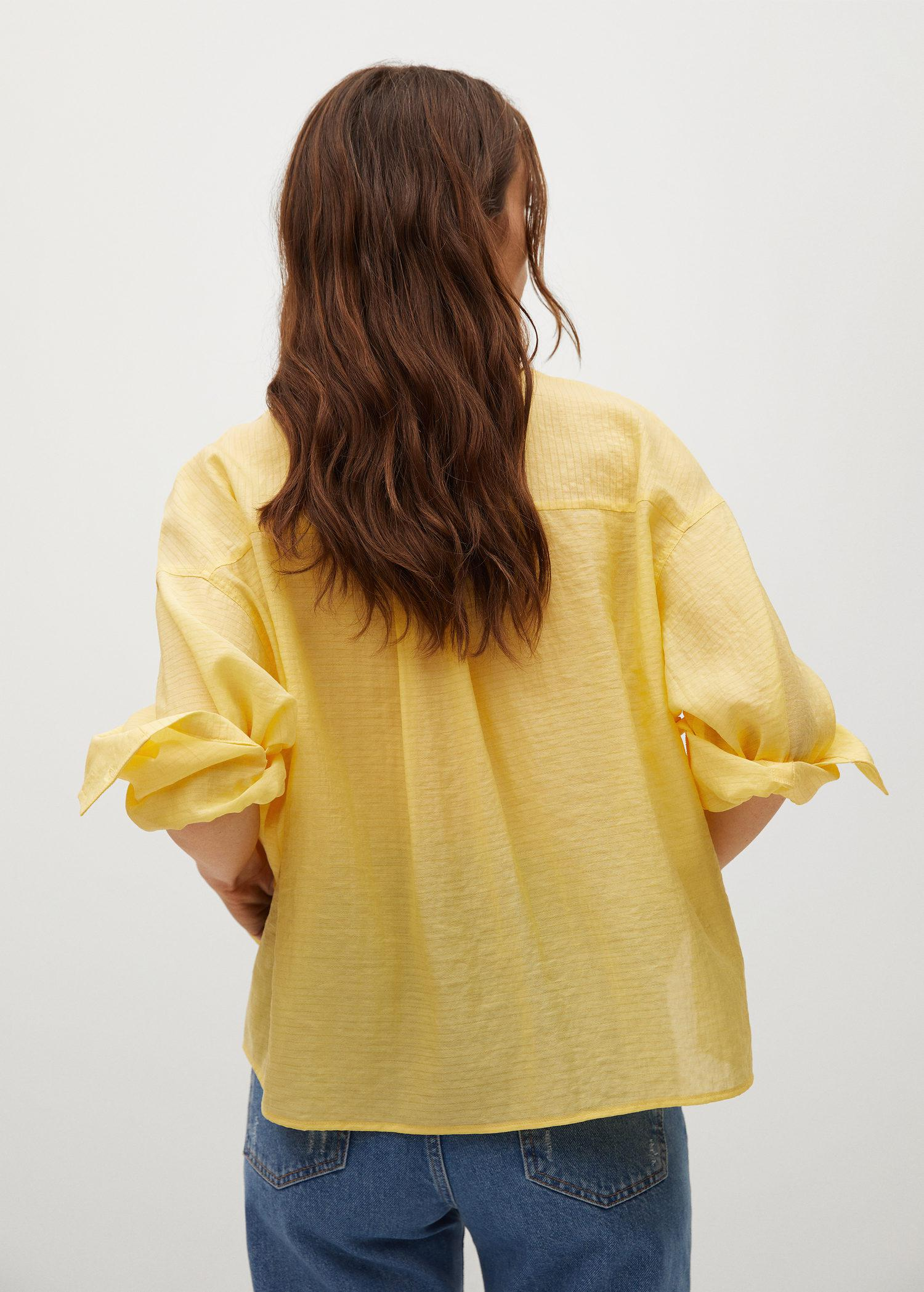Textured flowy blouse 2