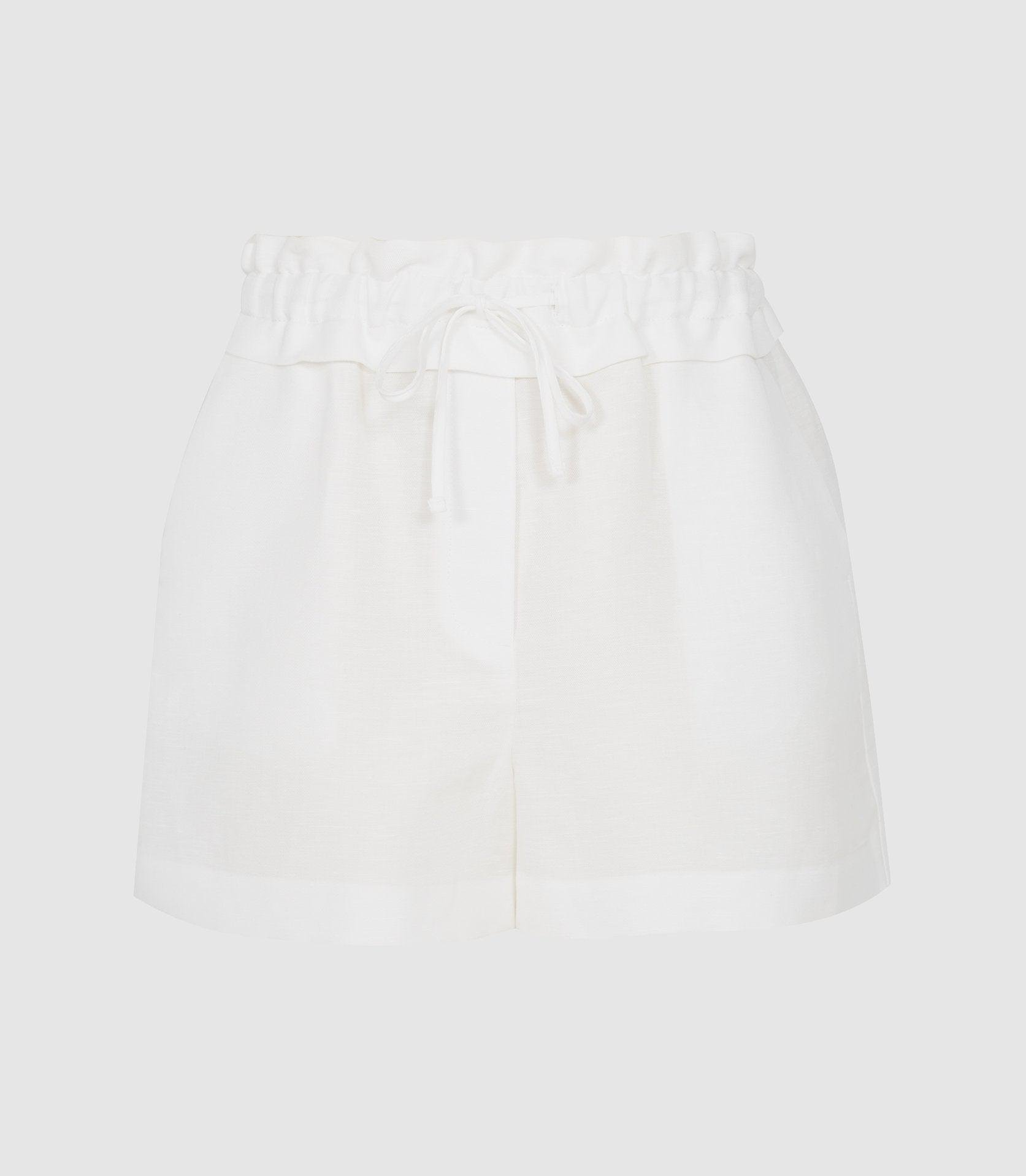 LACEY - LINEN BLEND DRAWCORD SHORTS 4