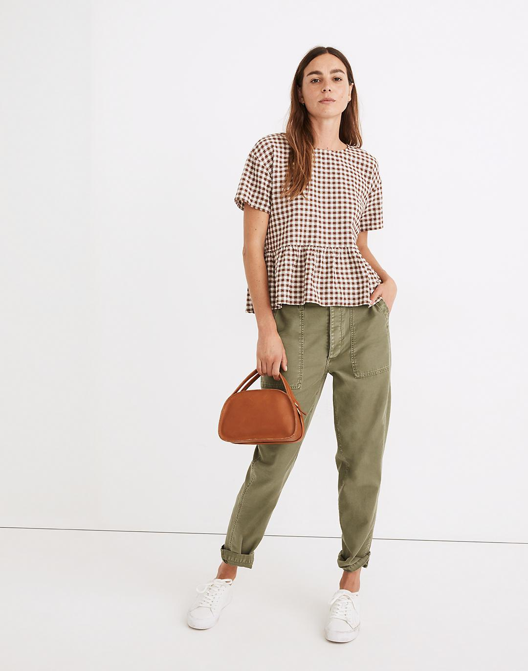 Medford Top in Textured Gingham