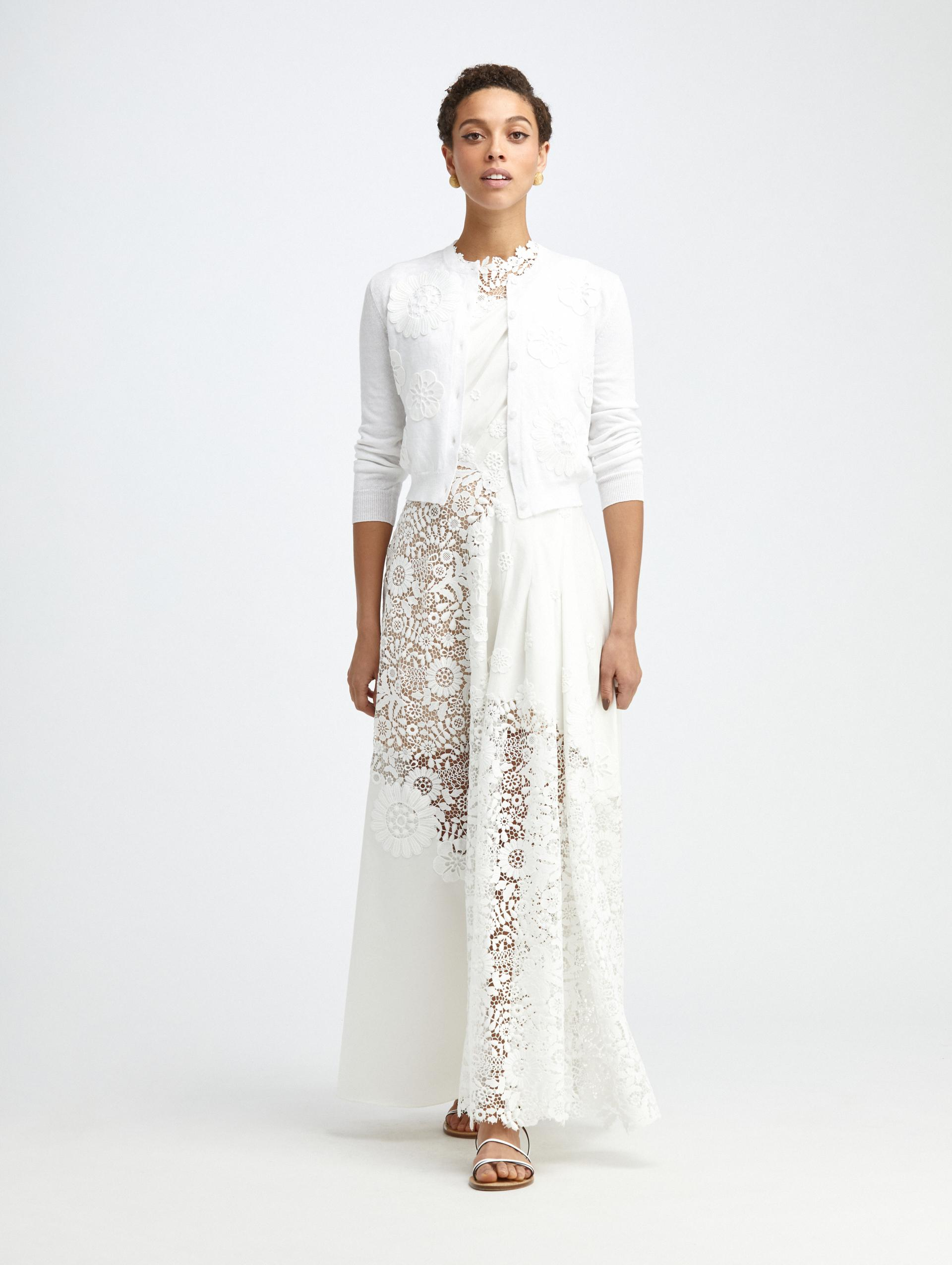 EMBROIDERED IVORY KNIT CARDIGAN 1