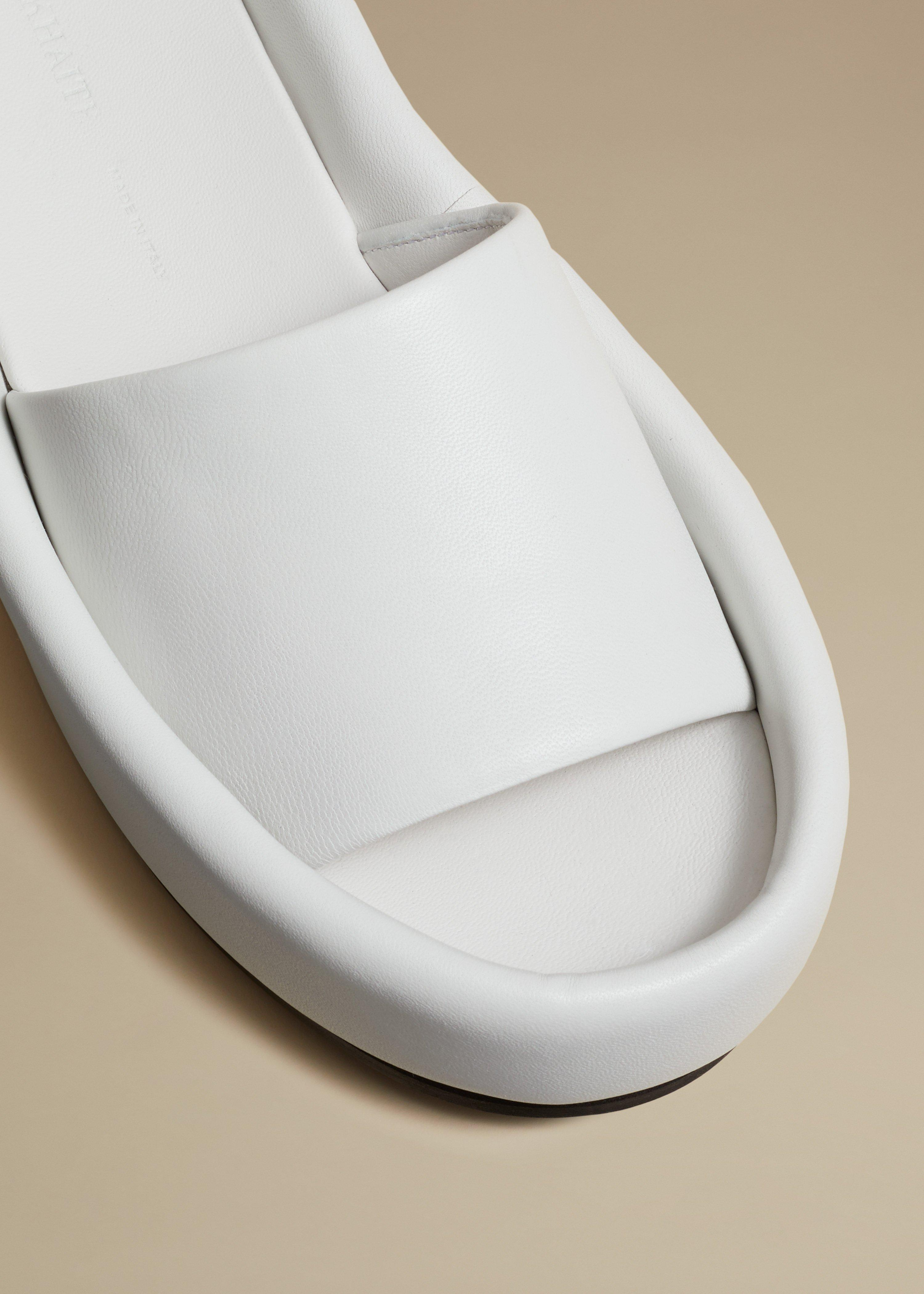 The Venice Sandal in White Leather 2