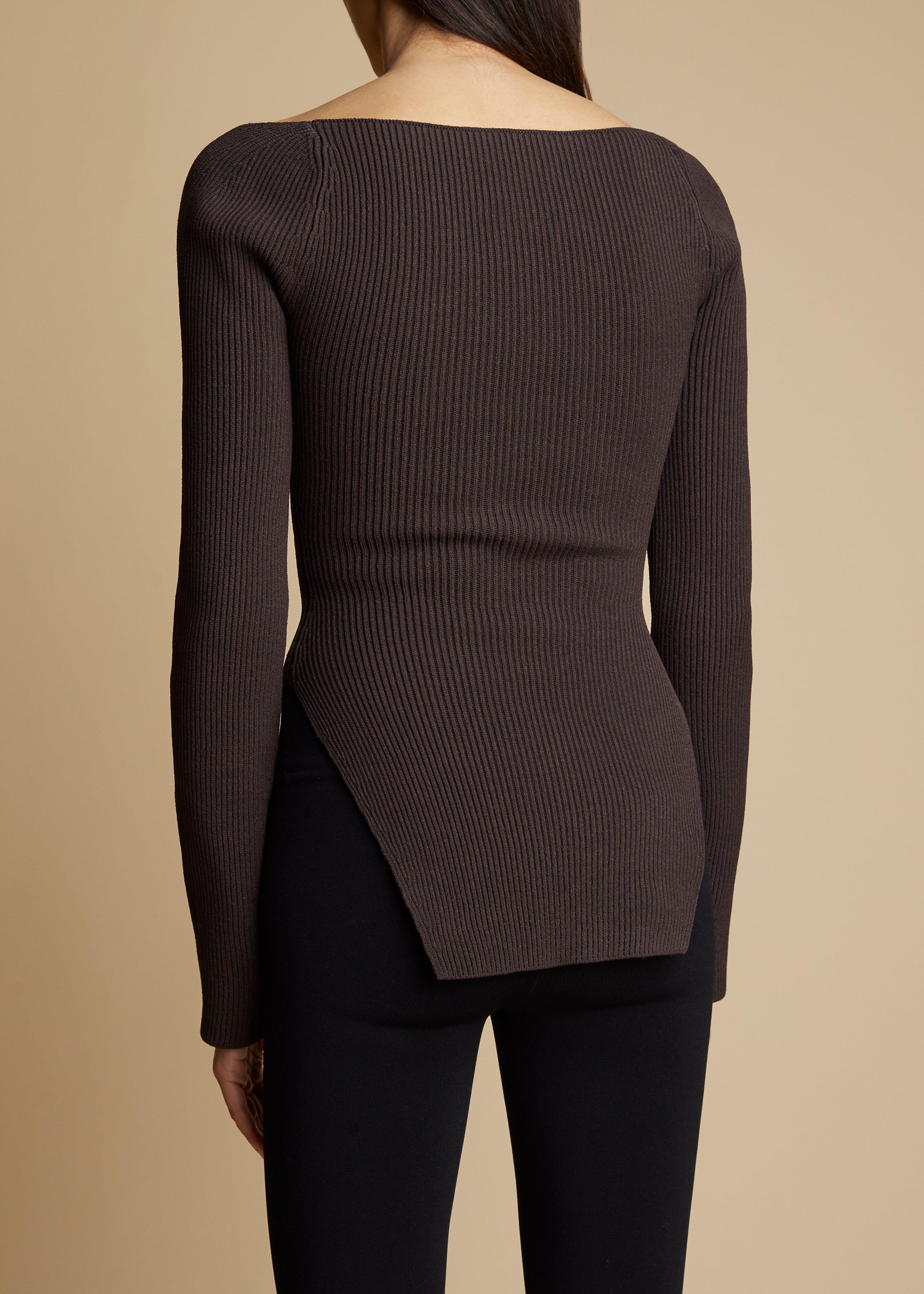 The Maddy Top in Chestnut 2