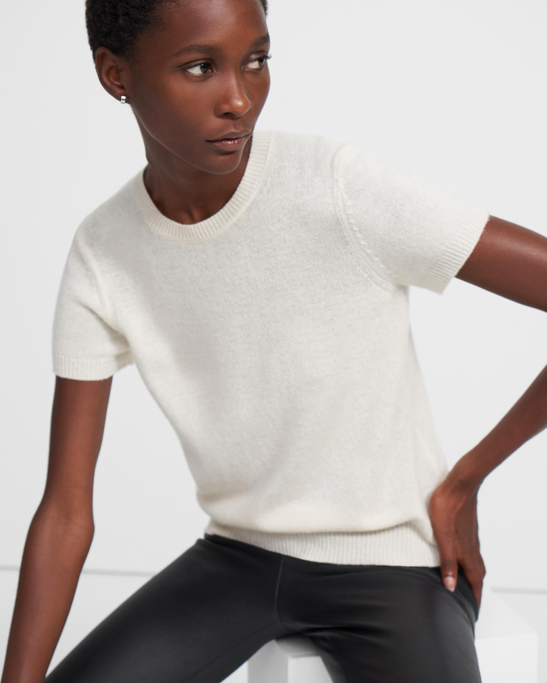 Basic Sweater Tee in Feather Cashmere