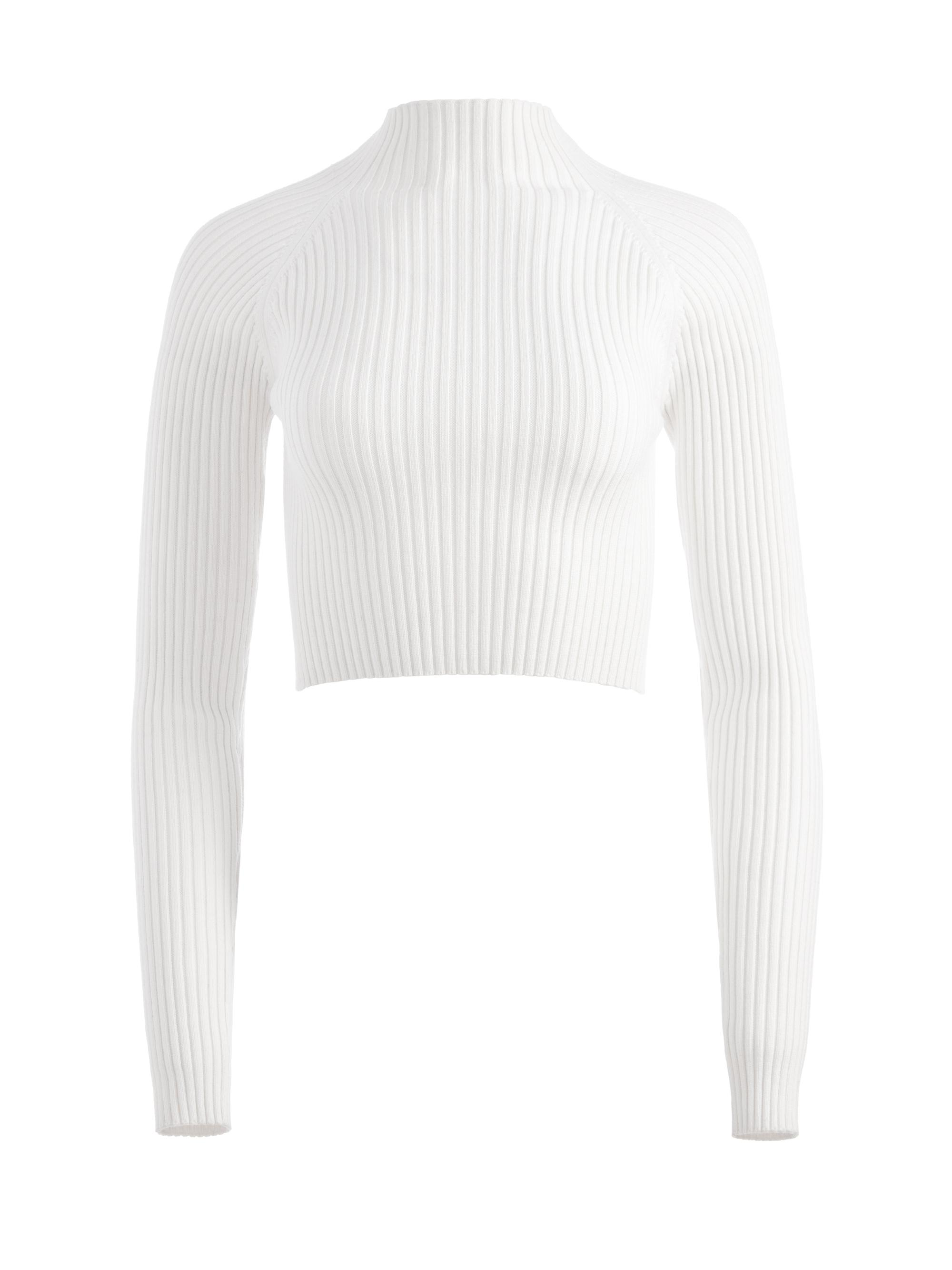 IRENA MOCK NECK CROPPED PULLOVER 9