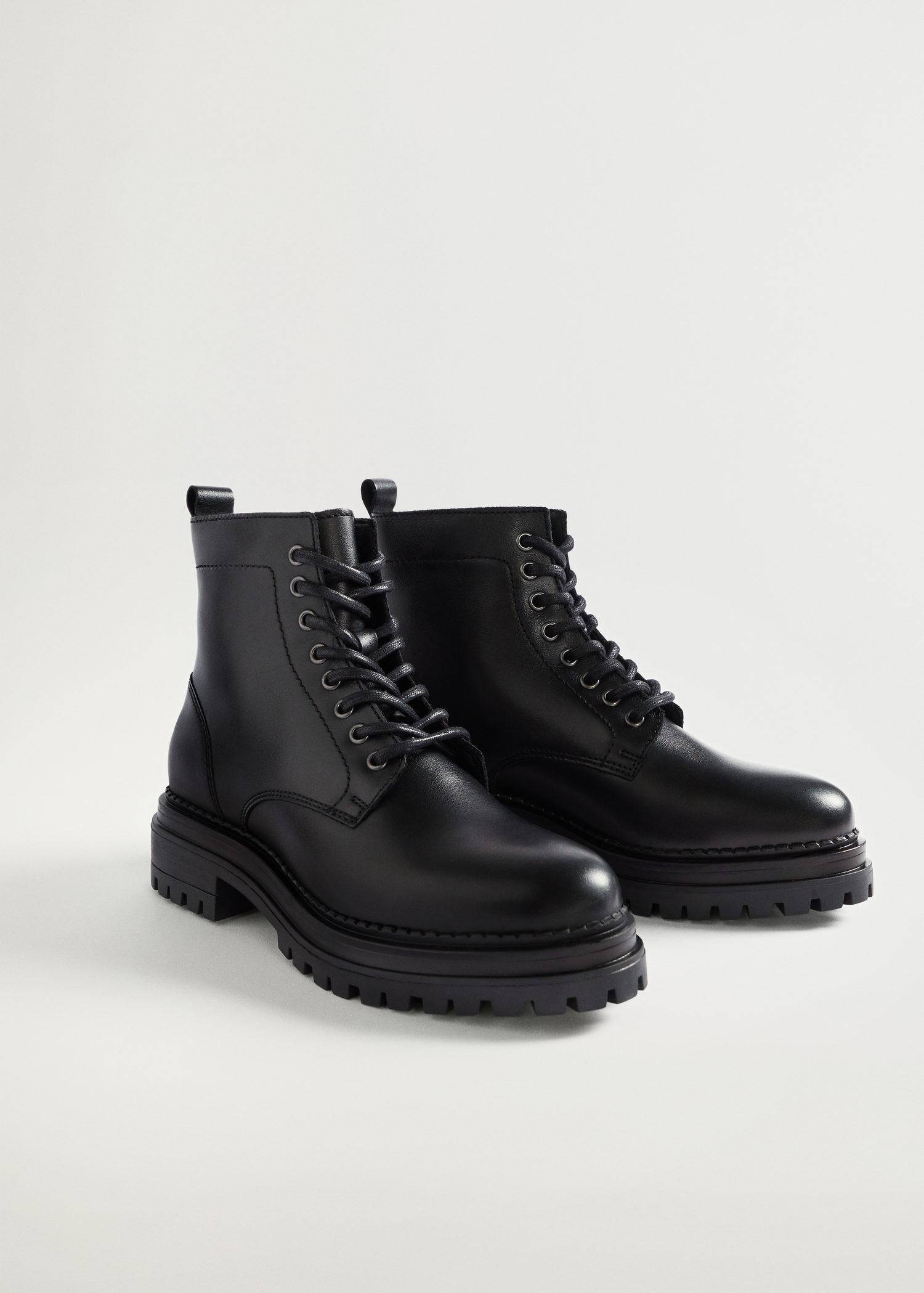 Lace-up leather boots 1