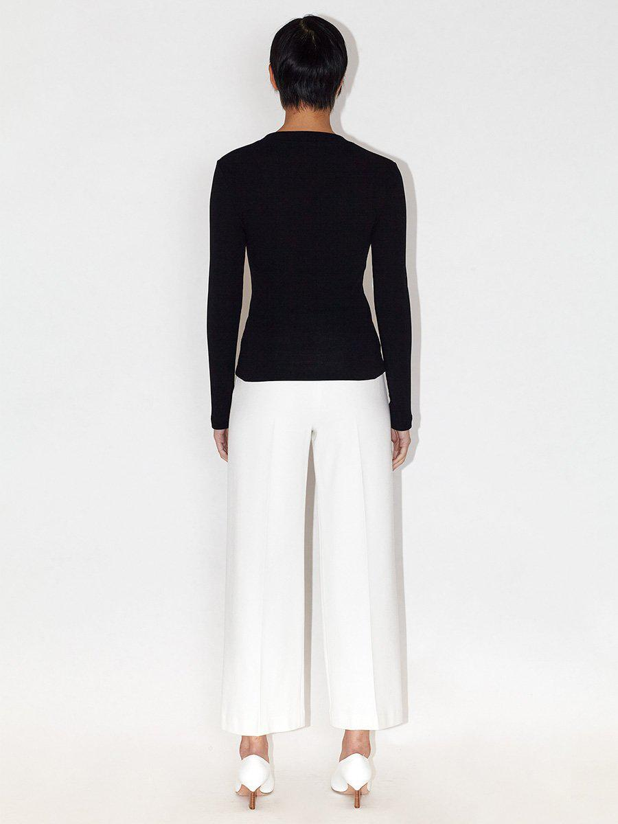 Pull On Cropped Straight Trousers 2
