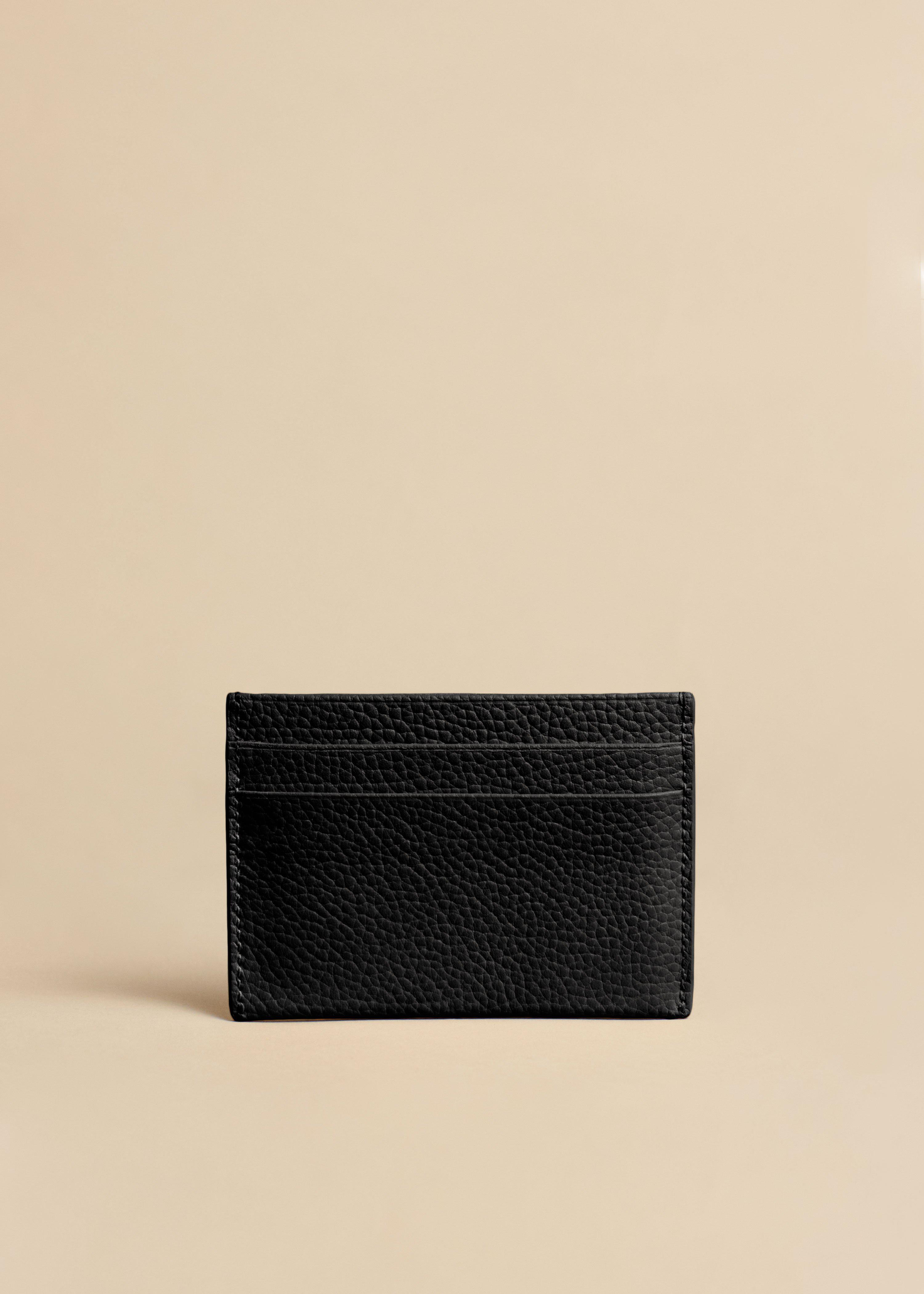 The Card Case in Black Leather 1