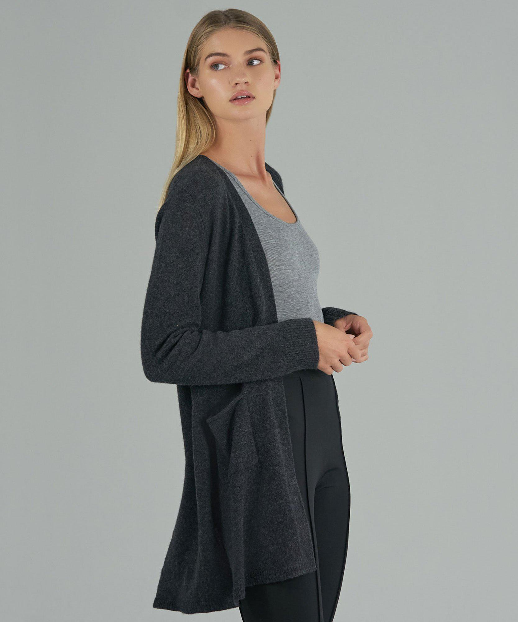 Cashmere Cardigan - Charcoal 1