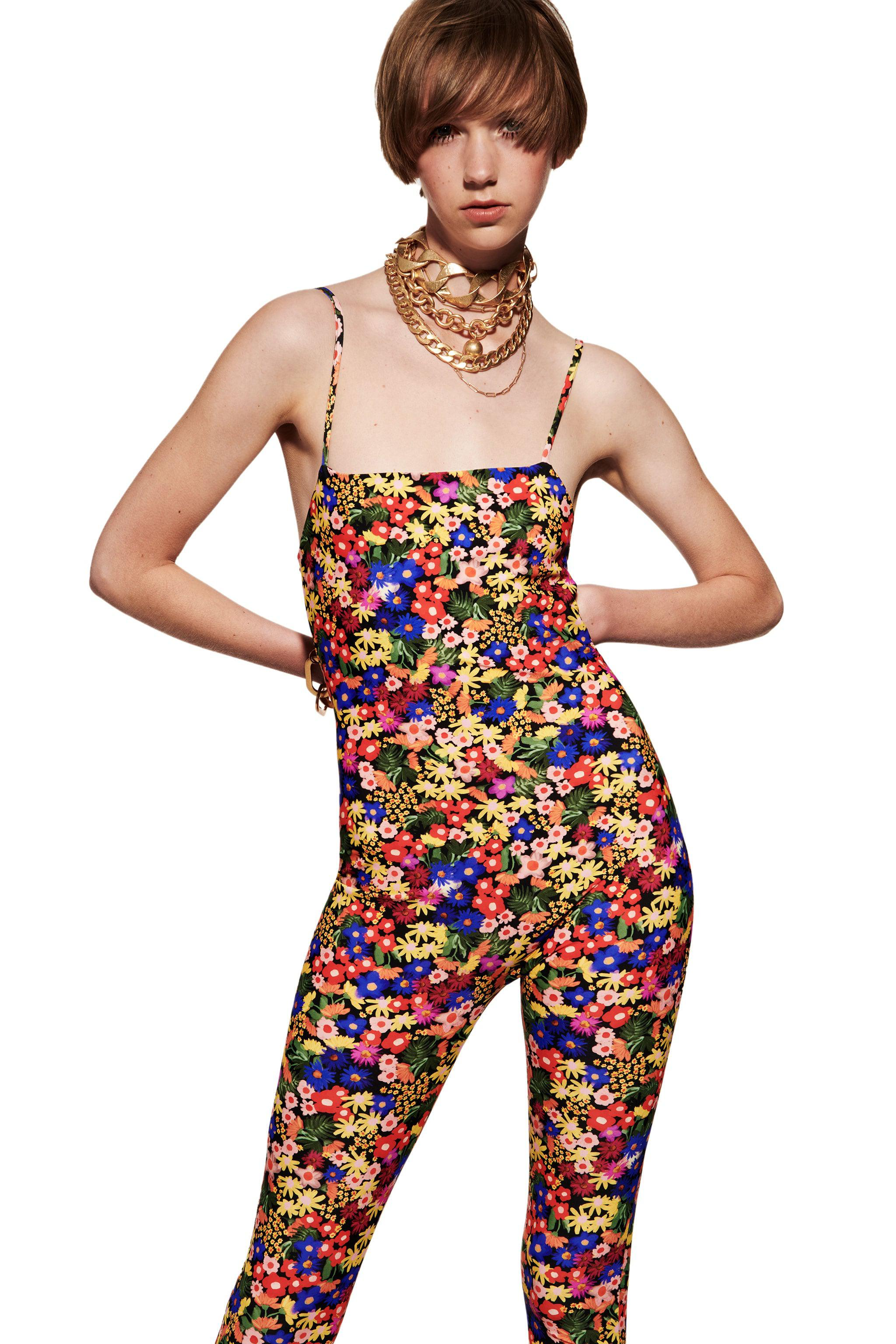 PRINTED STRETCHY JUMPSUIT